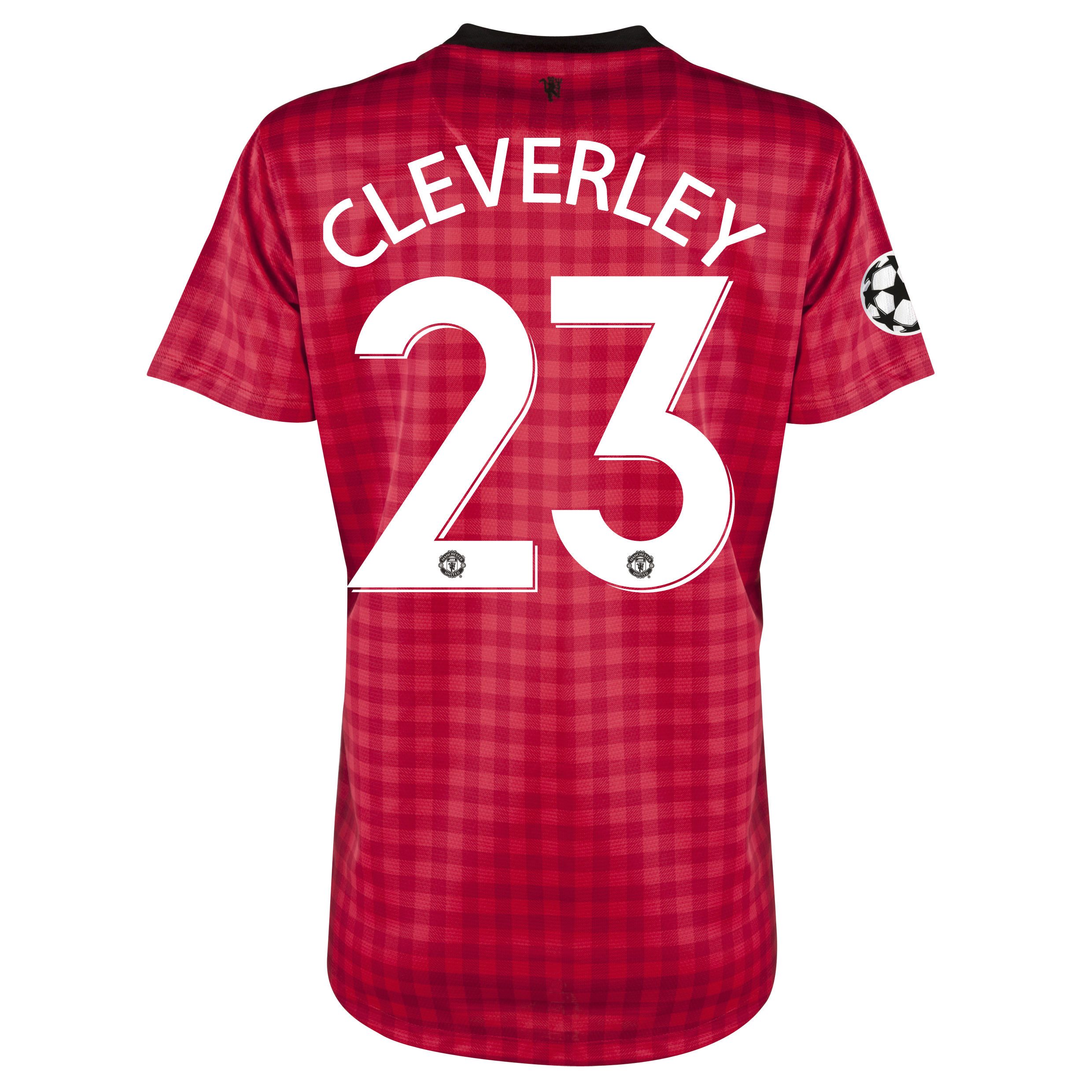 Man United UEFA Champions League Home Shirt 2012/13 - Womens with Cleverley 23 printing