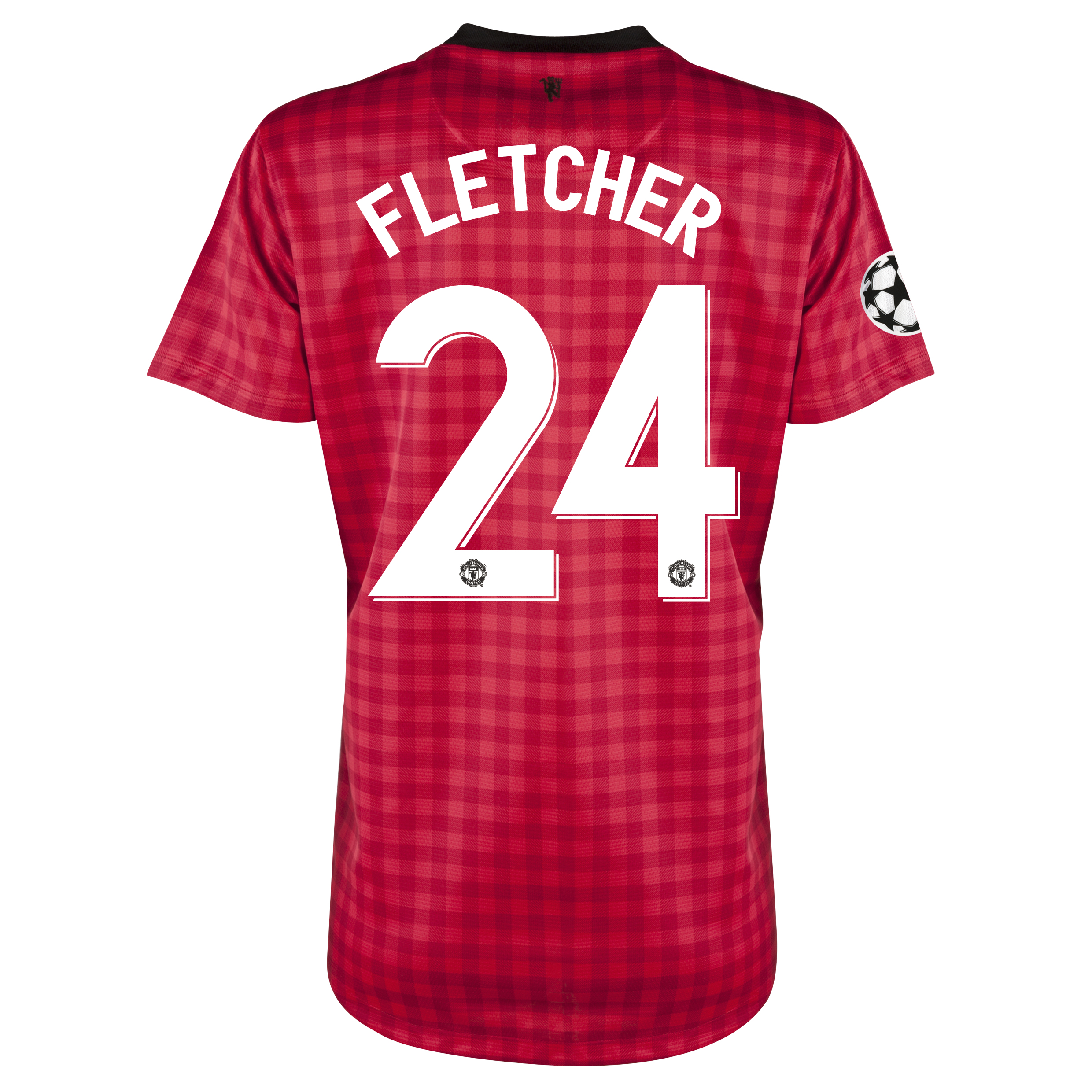 Man United UEFA Champions League Home Shirt 2012/13 - Womens with Fletcher 24 printing