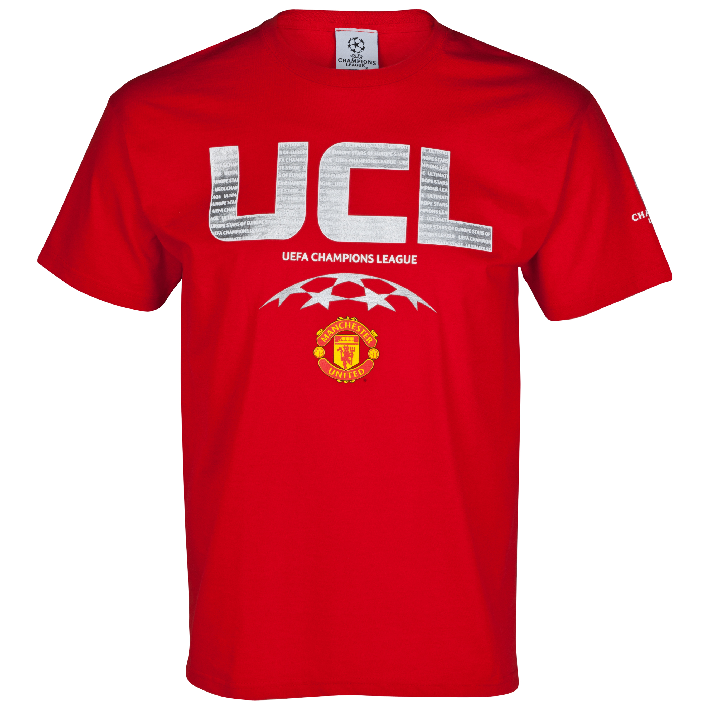 Manchester United UEFA Champions League High Build T-Shirt - Red