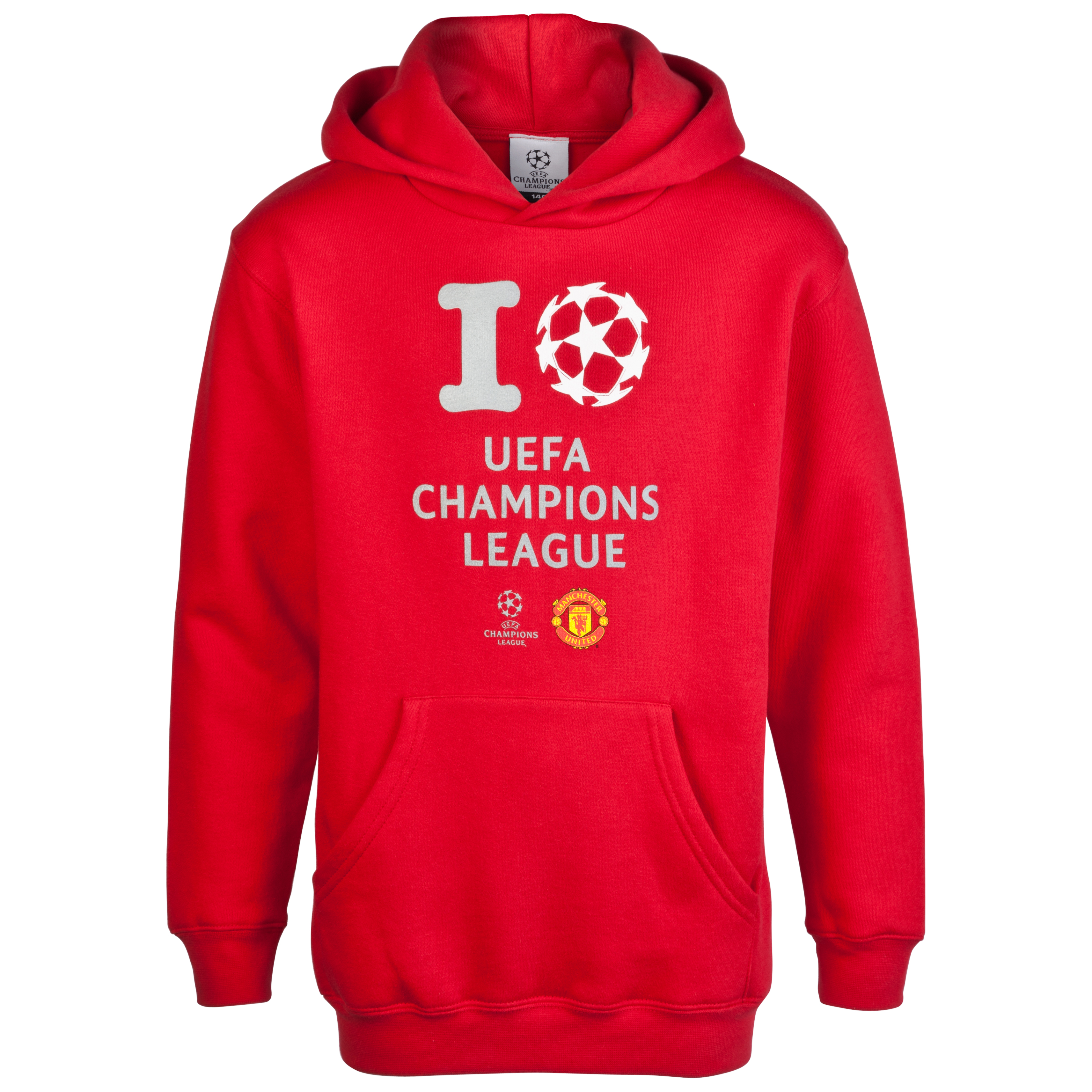 Manchester United inchI Love UCLinch Glow in the Dark Printed Hoody - Red - Kids