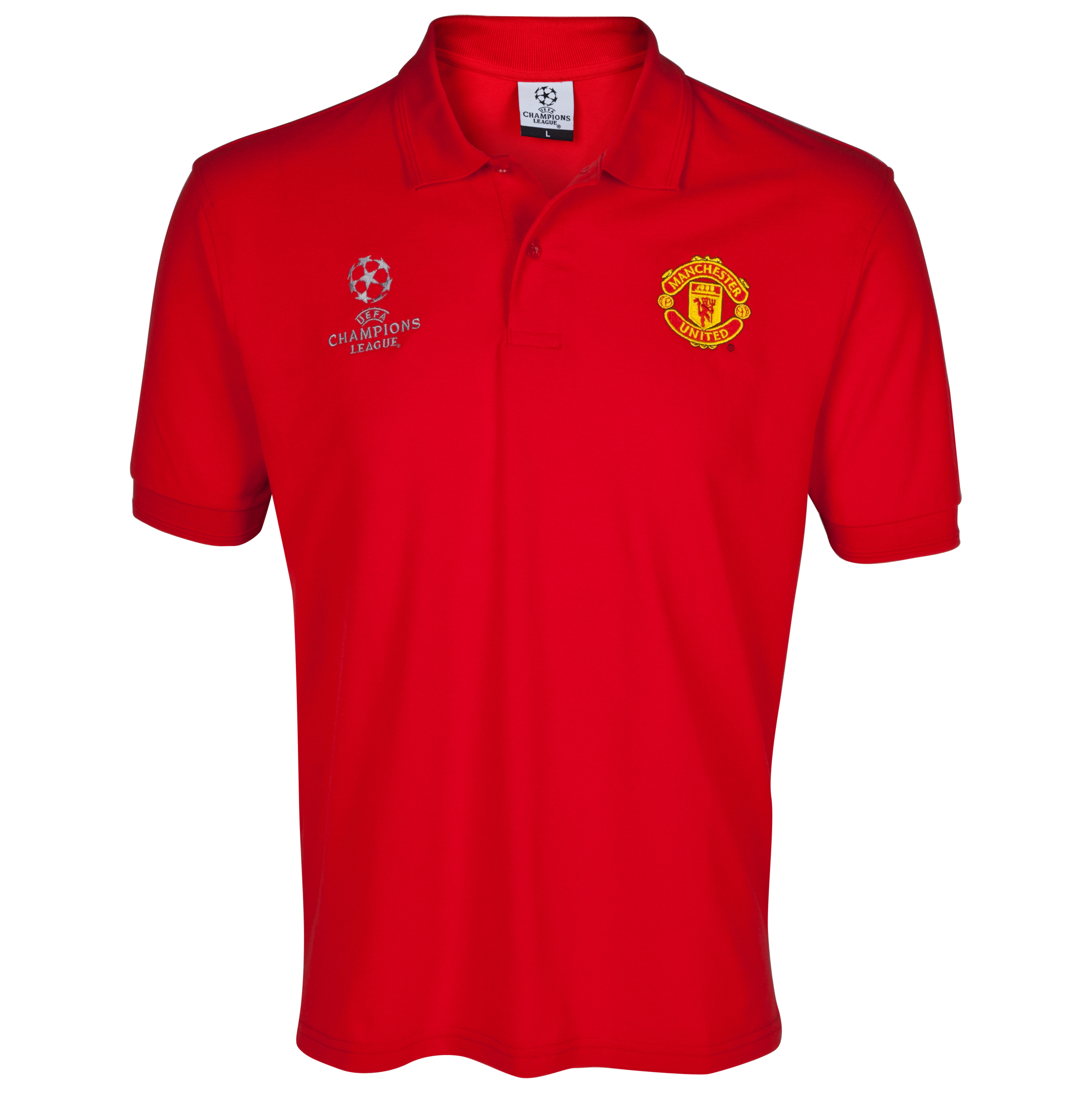 Manchester United Embroidered Polo - Red - Kids