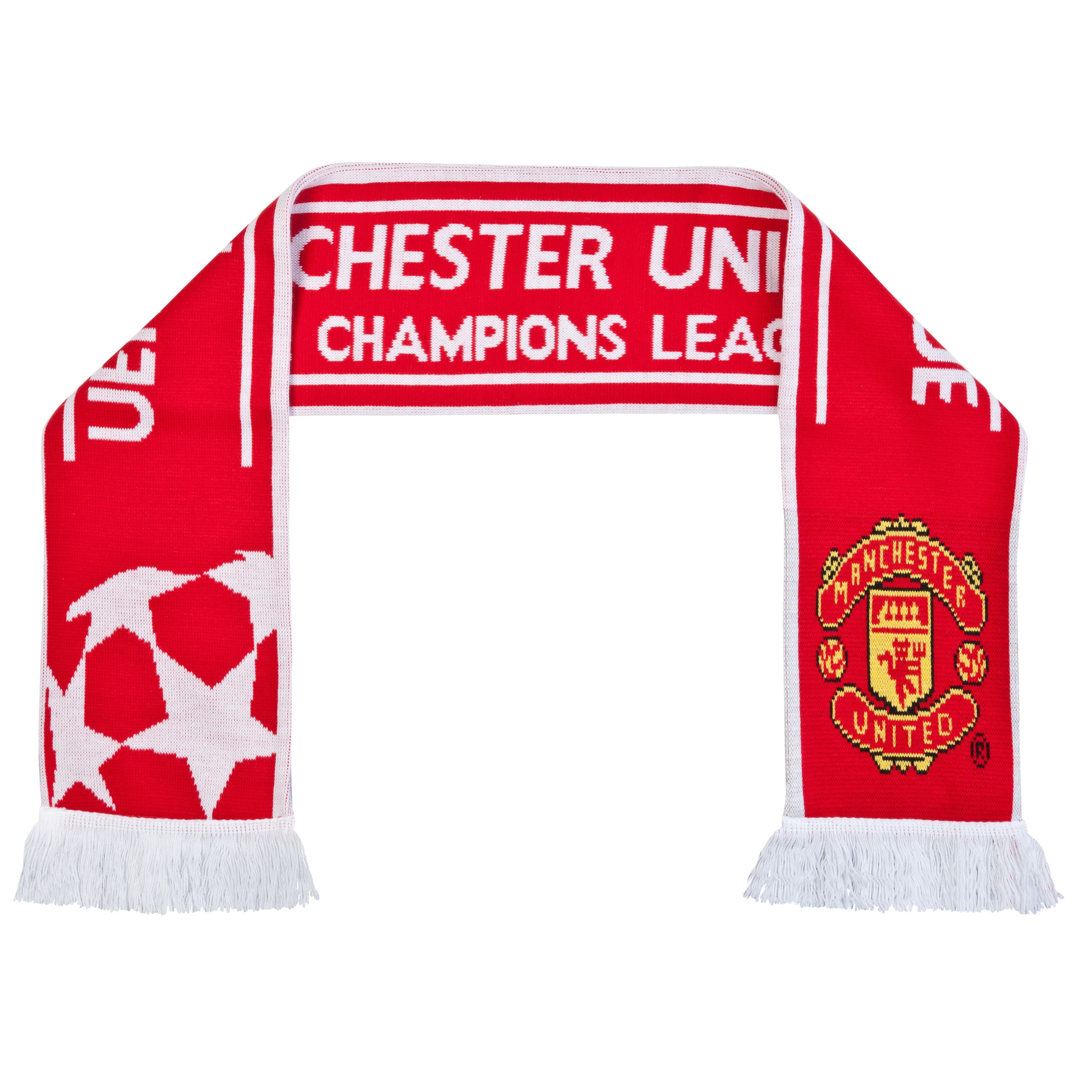 Manchester United Jacquard Scarf - Red/White