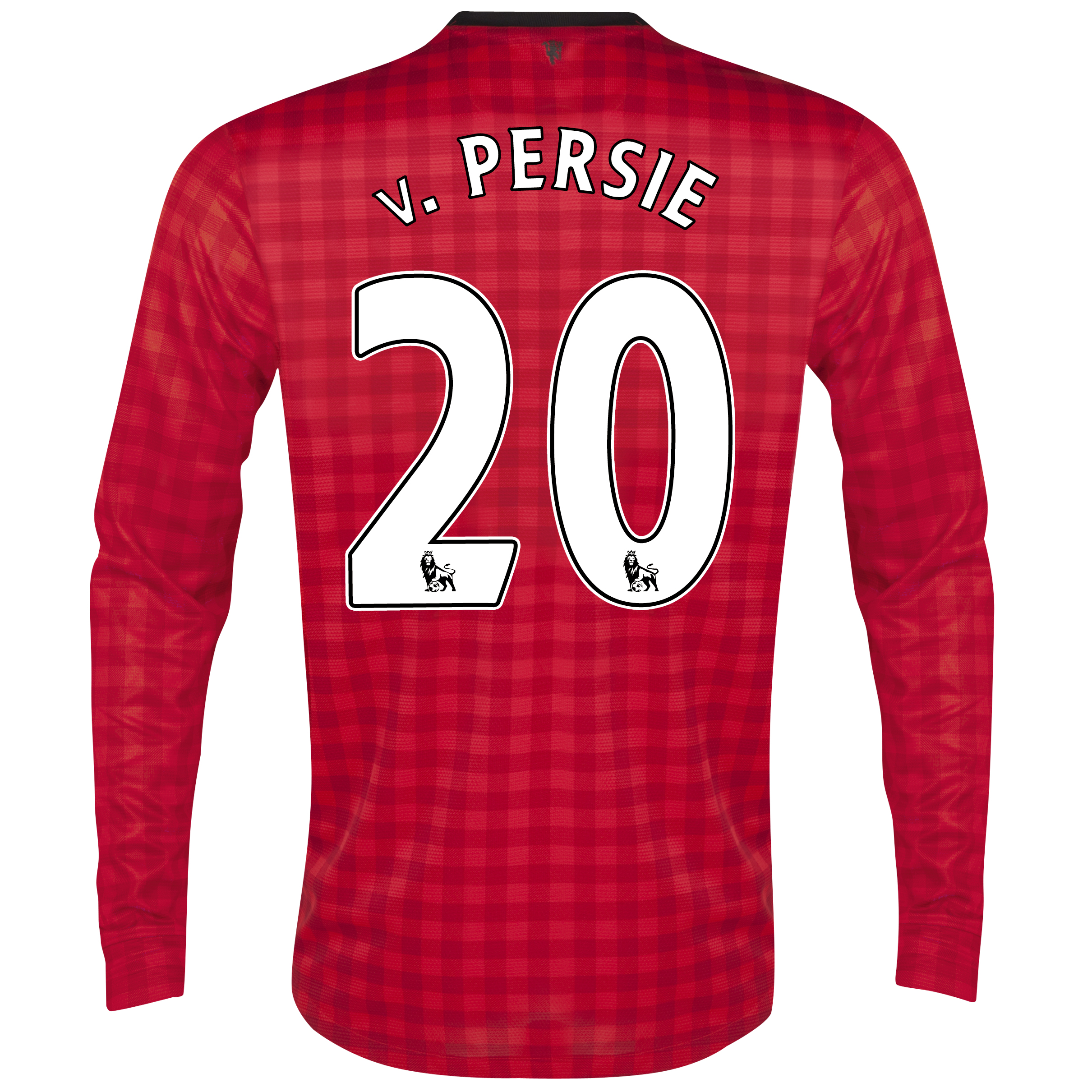 Manchester United Home Shirt 2012/13 - Long Sleeved  - Kids with v.Persie 20 printing