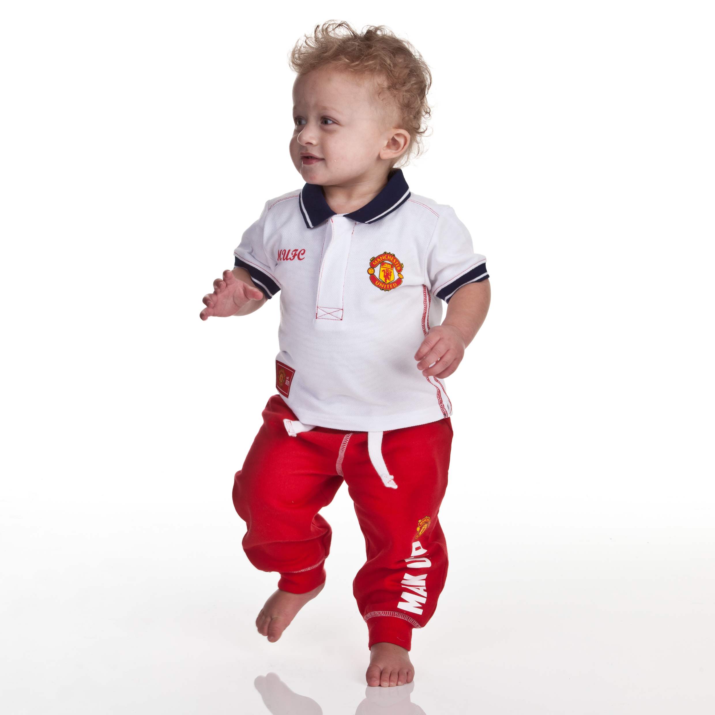 Manchester United Old Trafford Polo - White - Baby Boys