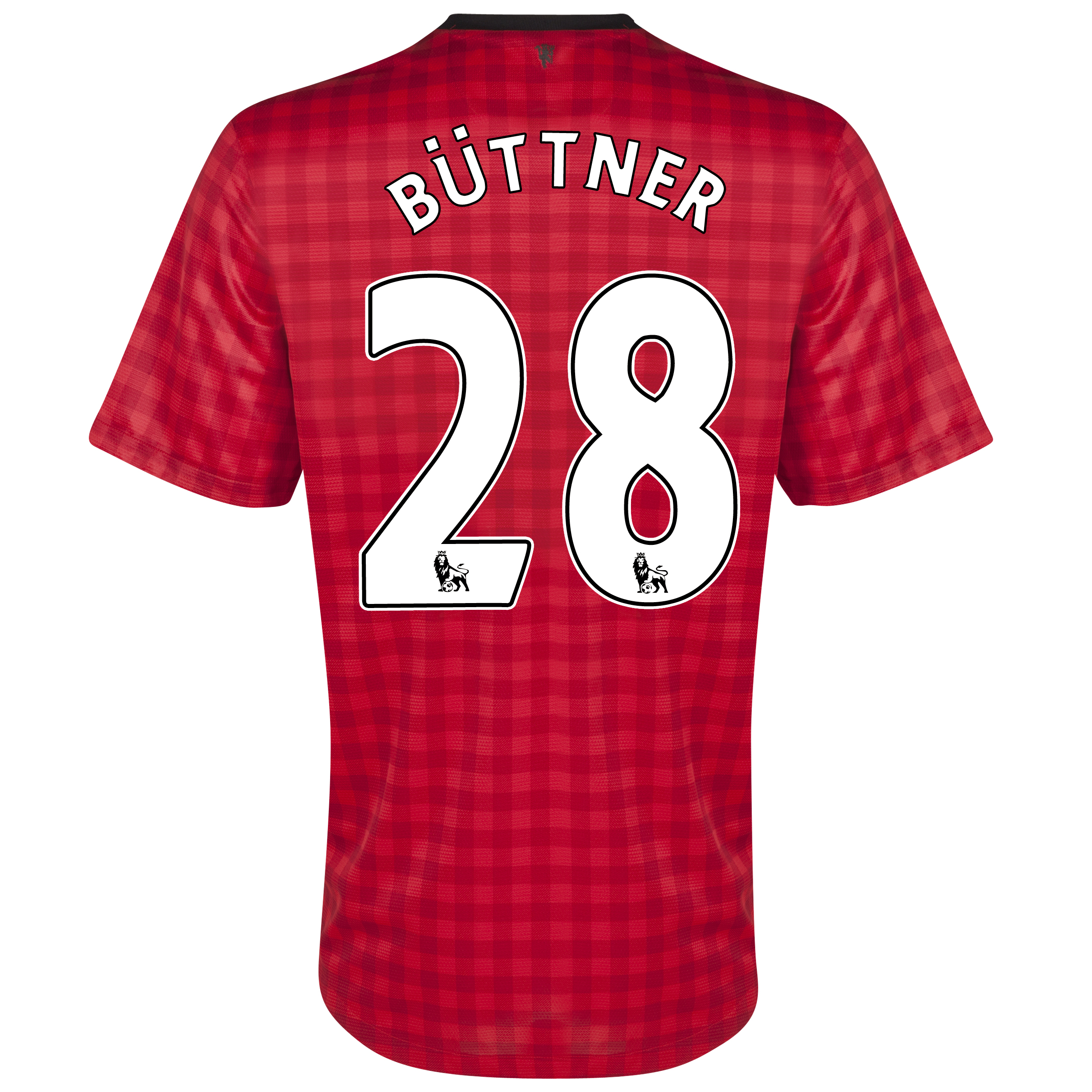 Manchester United Home Shirt 2012/13  - Youths with Büttner 28 printing