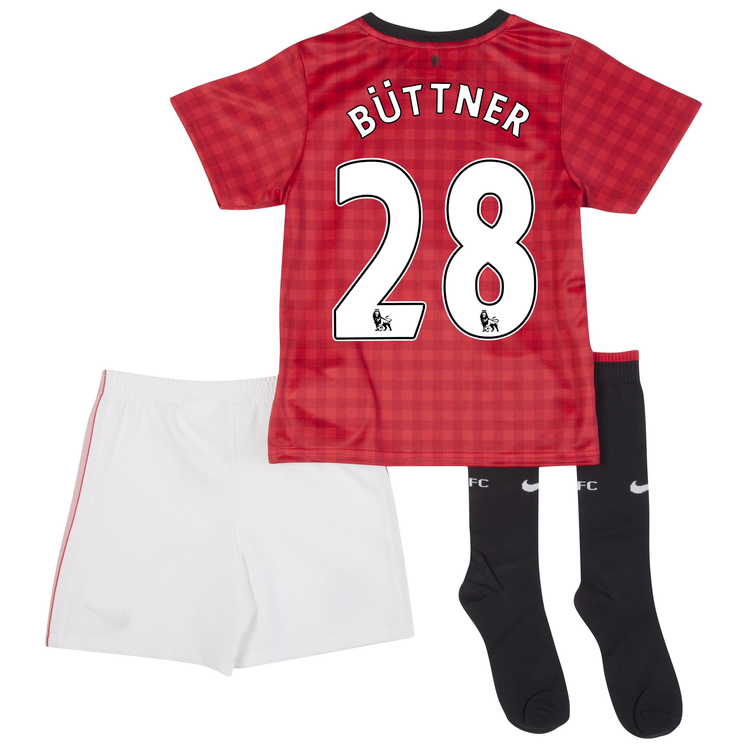 Manchester United Home Kit 2012/13 -  Little Boys with Büttner 28 printing