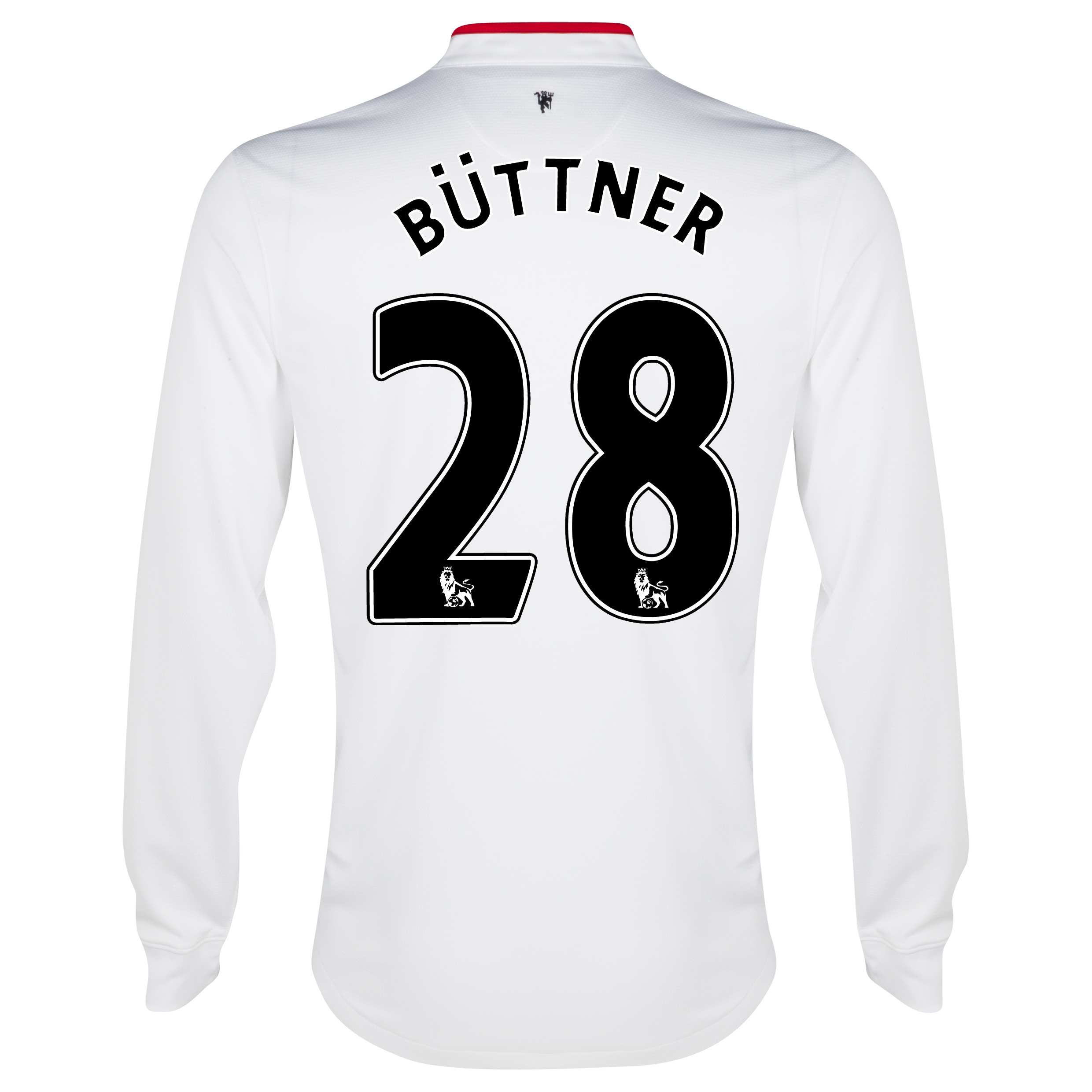 Manchester United Away Shirt 2012/13 - Long Sleeved - Kids with Büttner 28 printing