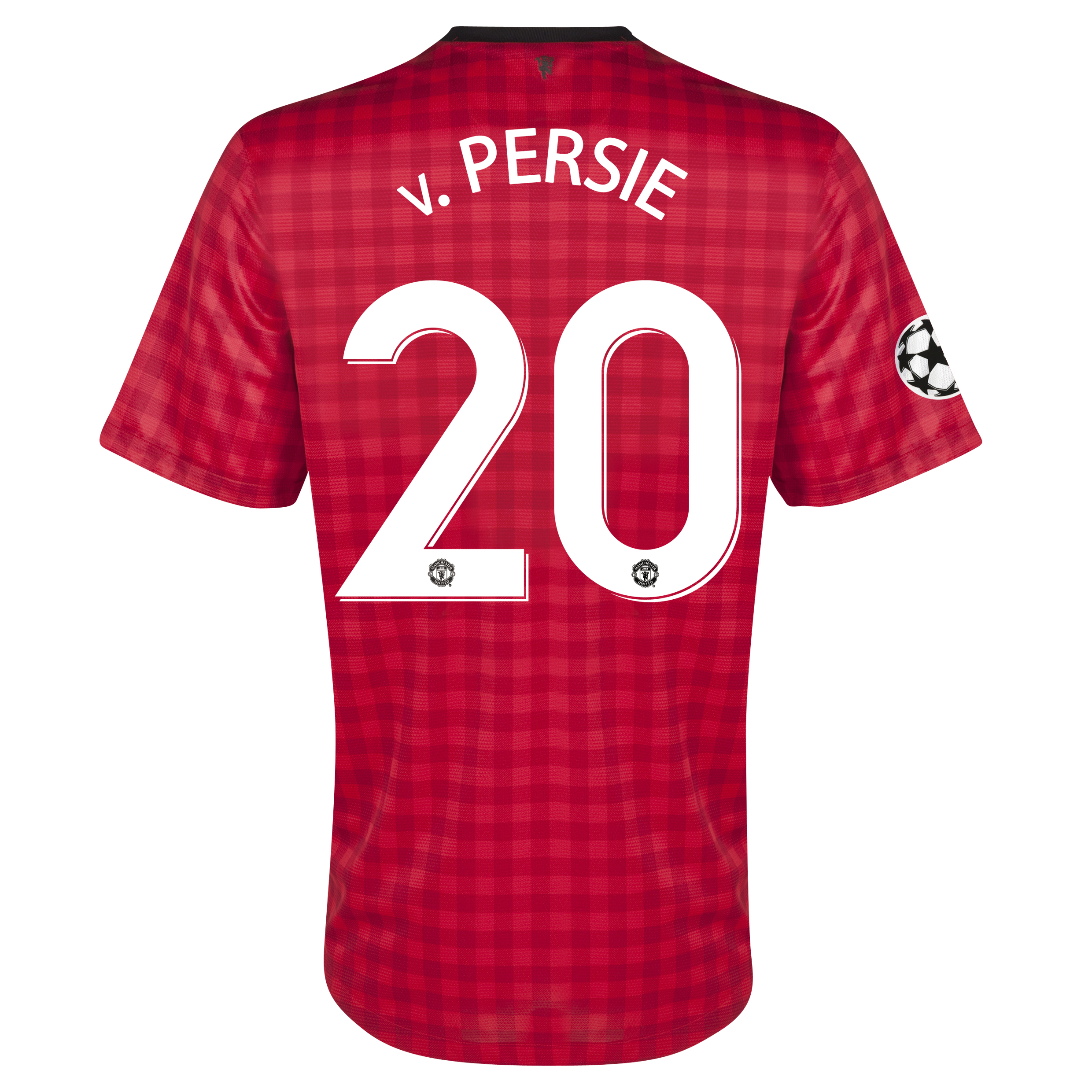 Manchester United UEFA Champions League Home Shirt 2012/13 with v.Persie 20 printing