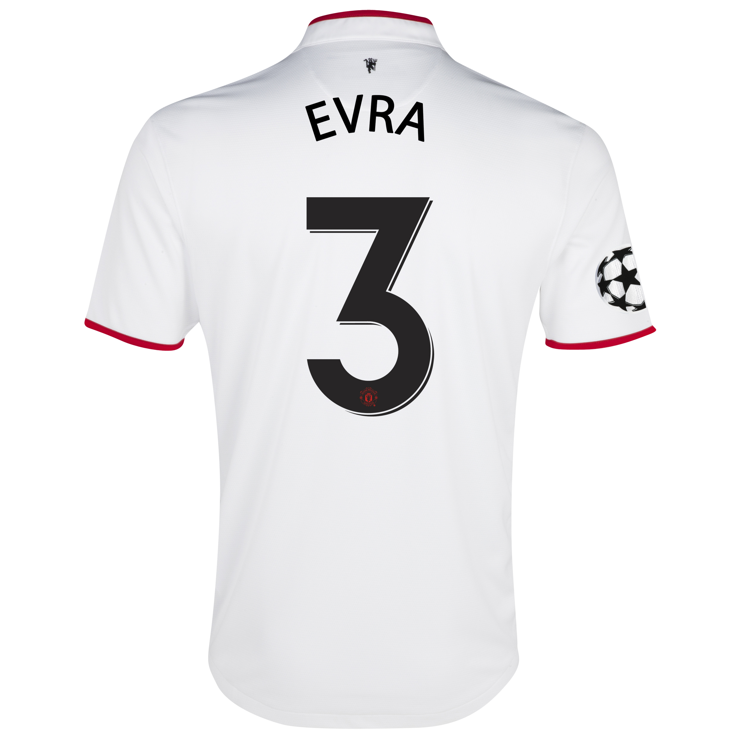 Manchester United UEFA Champions League Away Shirt 2012/13 with Evra 3 printing