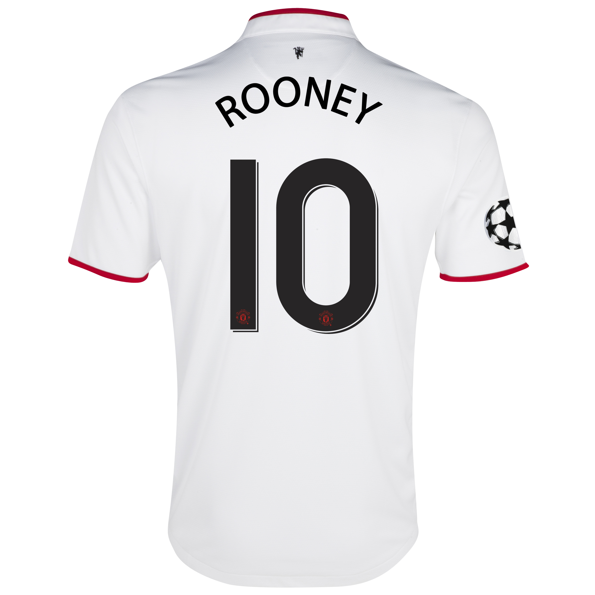Manchester United UEFA Champions League Away Shirt 2012/13 with Rooney 10 printing