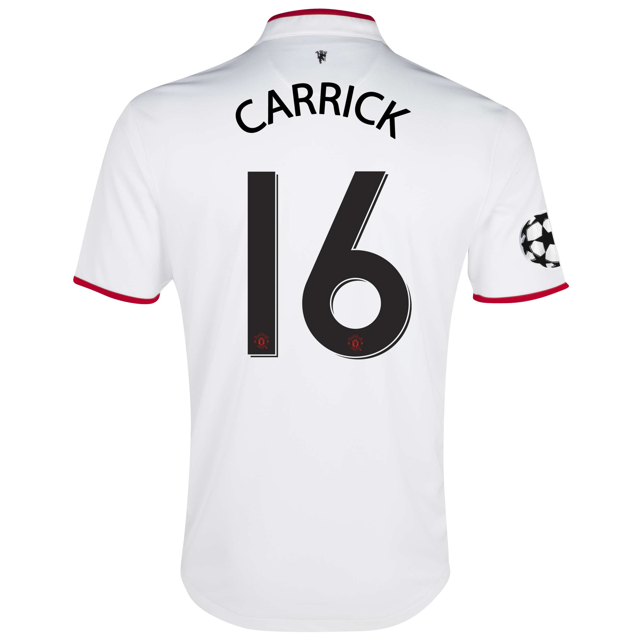 Manchester United UEFA Champions League Away Shirt 2012/13 with Carrick 16 printing