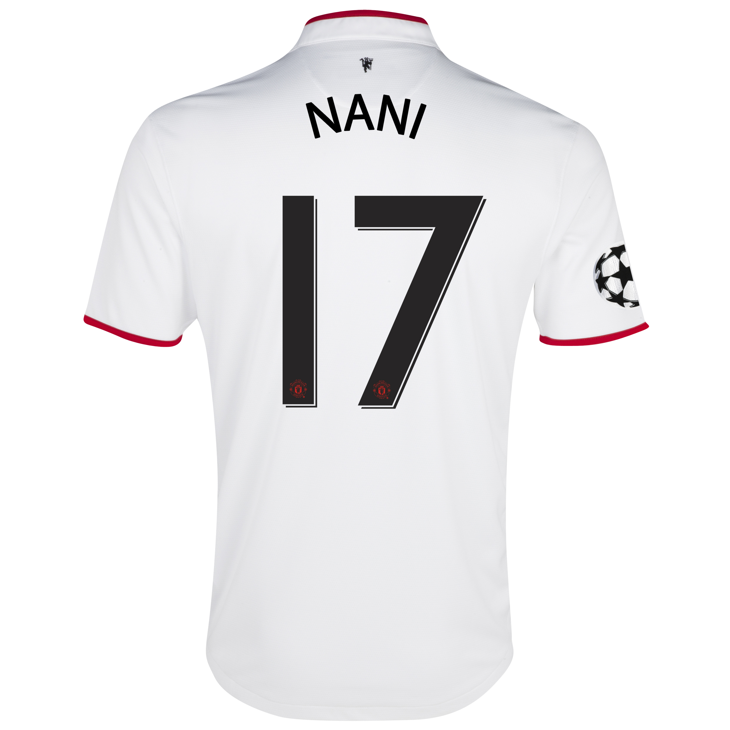 Manchester United UEFA Champions League Away Shirt 2012/13 with Nani 17 printing