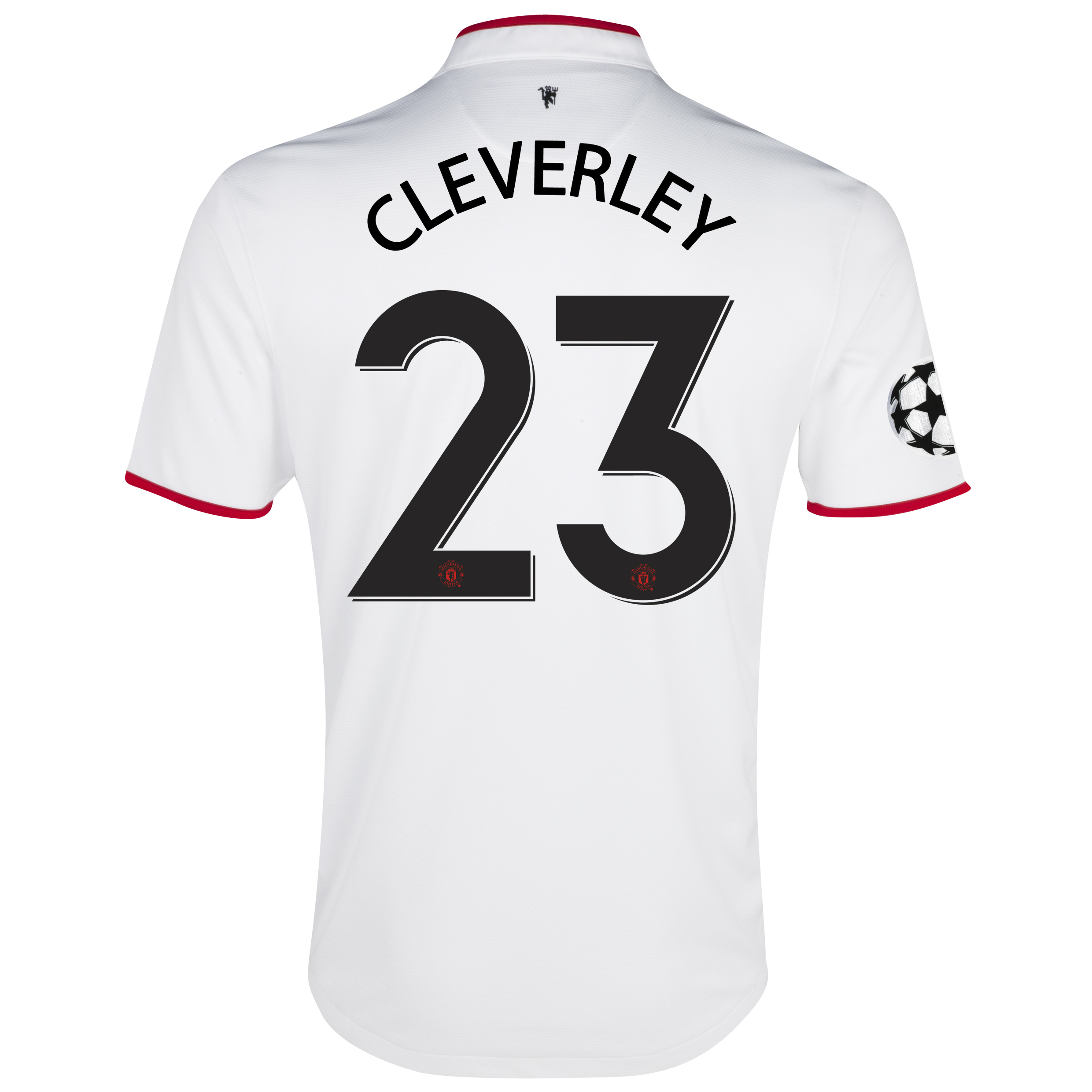 Manchester United UEFA Champions League Away Shirt 2012/13 with Cleverley 23 printing