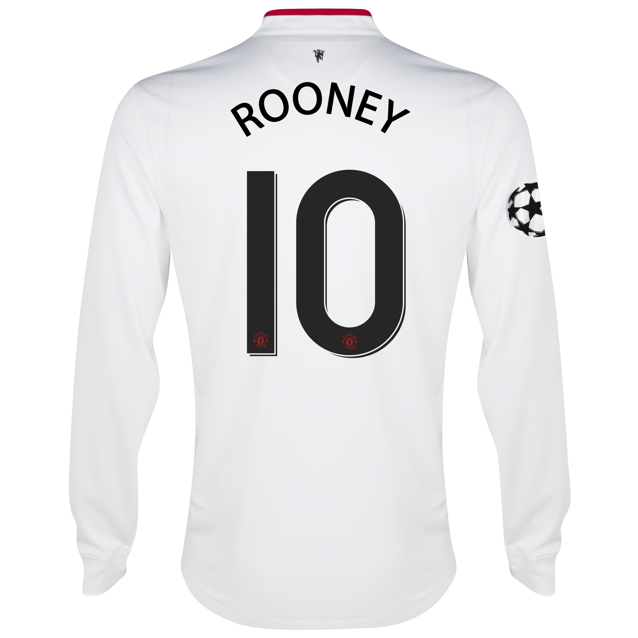 Manchester United UEFA Champions League Away Shirt 2012/13 - Long Sleeved - Kids with Rooney 10 printing