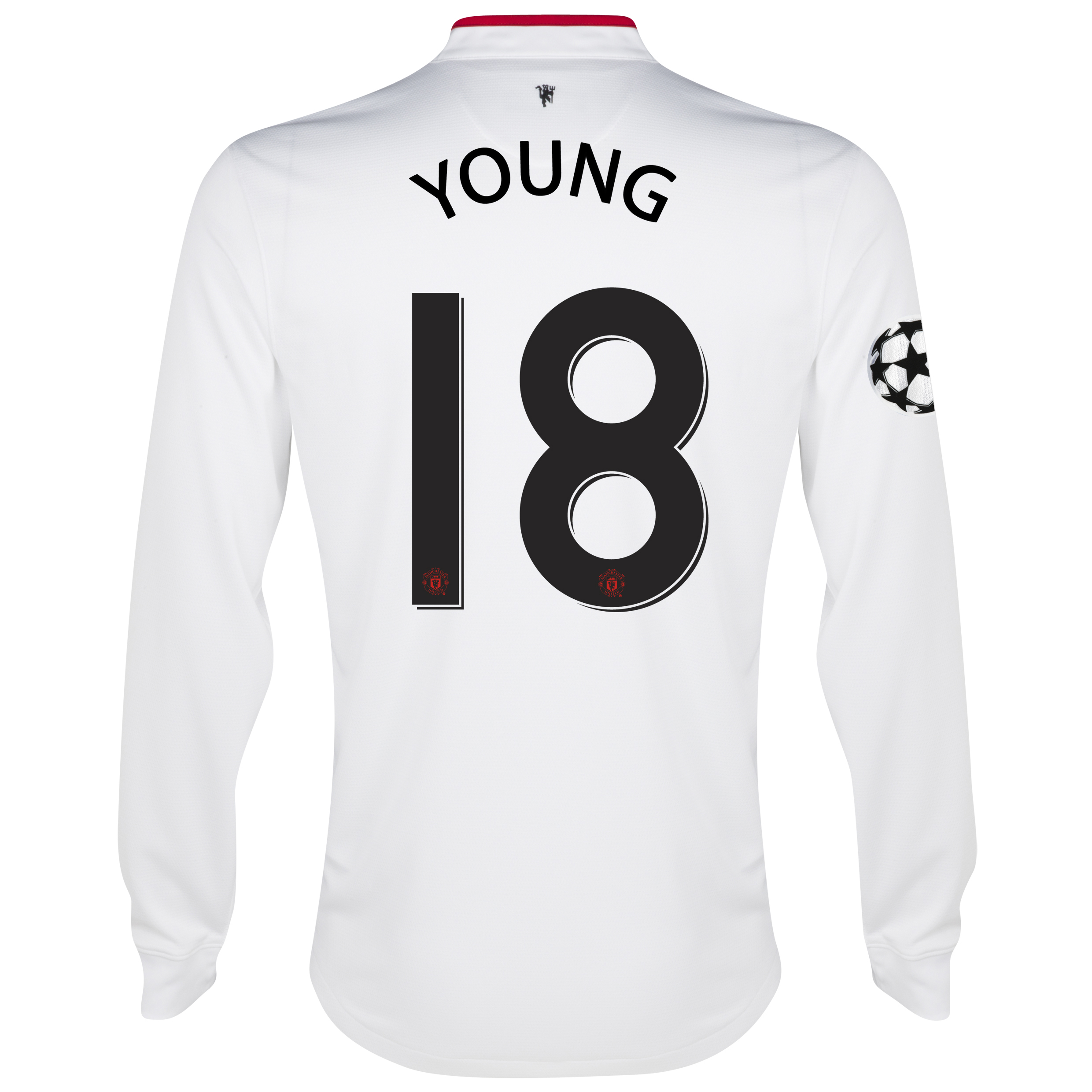 Manchester United UEFA Champions League Away Shirt 2012/13 - Long Sleeved - Kids with Young 18 printing