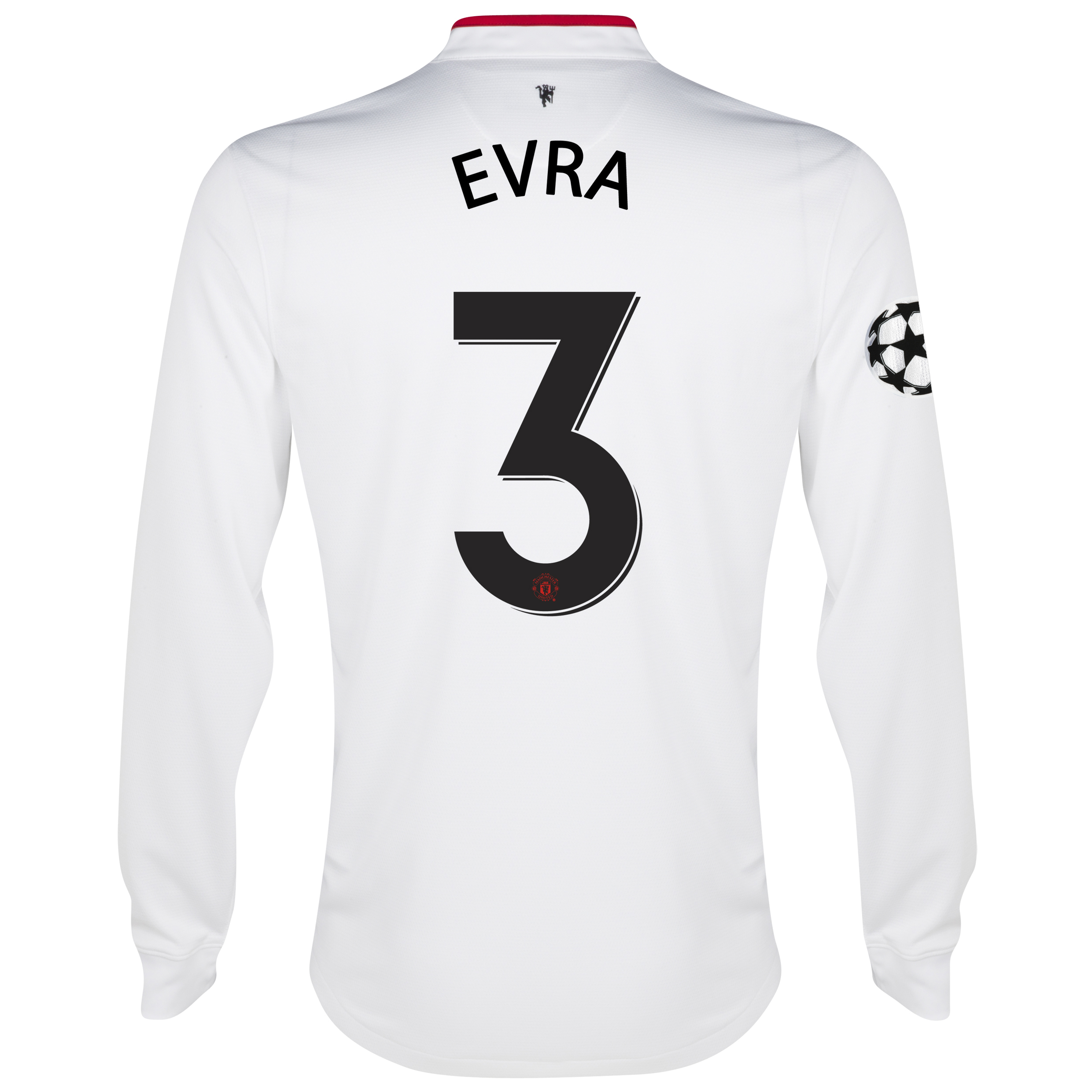 Manchester United UEFA Champions League Away Shirt 2012/13 - Long Sleeved - Youths with Evra 3 printing