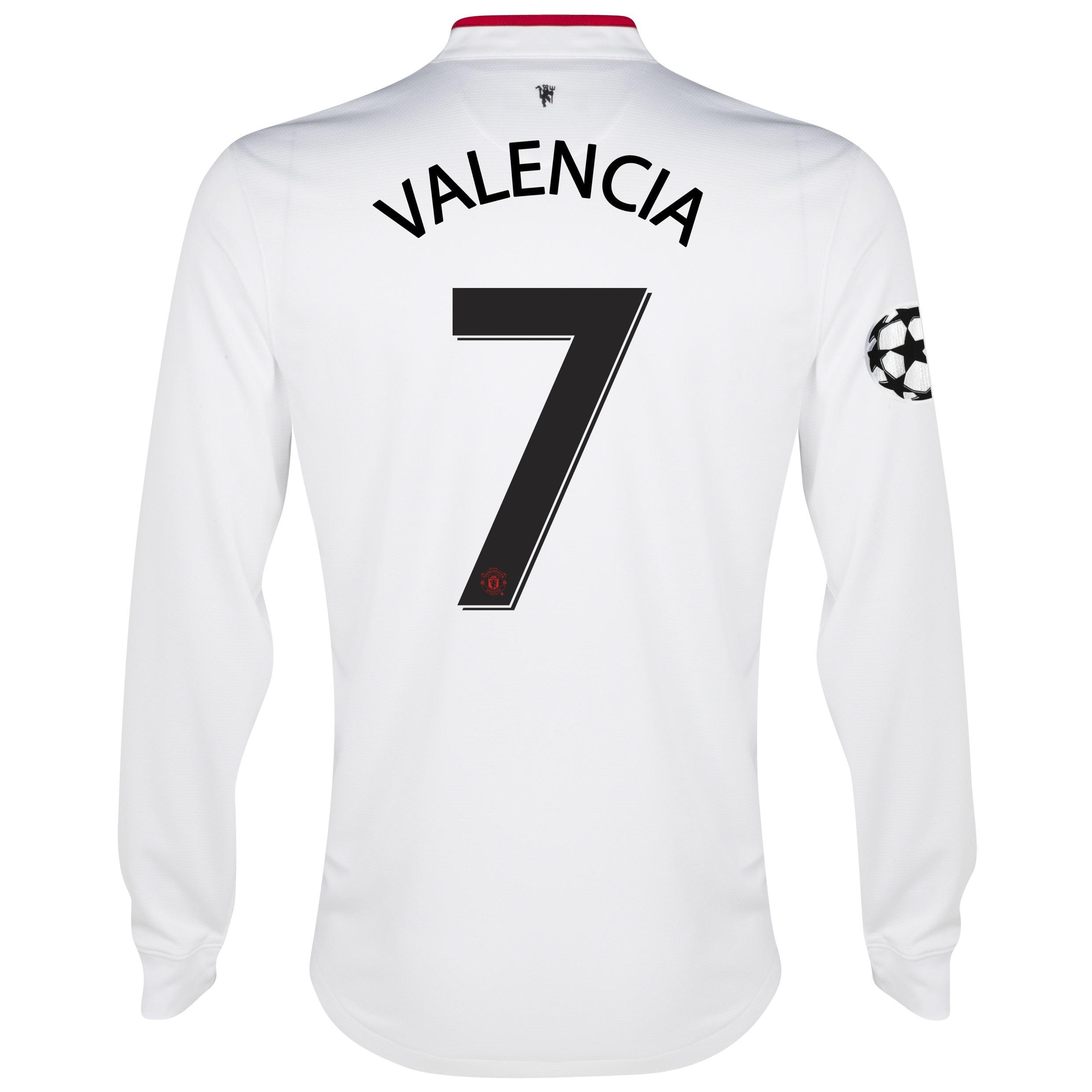 Manchester United UEFA Champions League Away Shirt 2012/13 - Long Sleeved - Youths with Valencia 7 printing