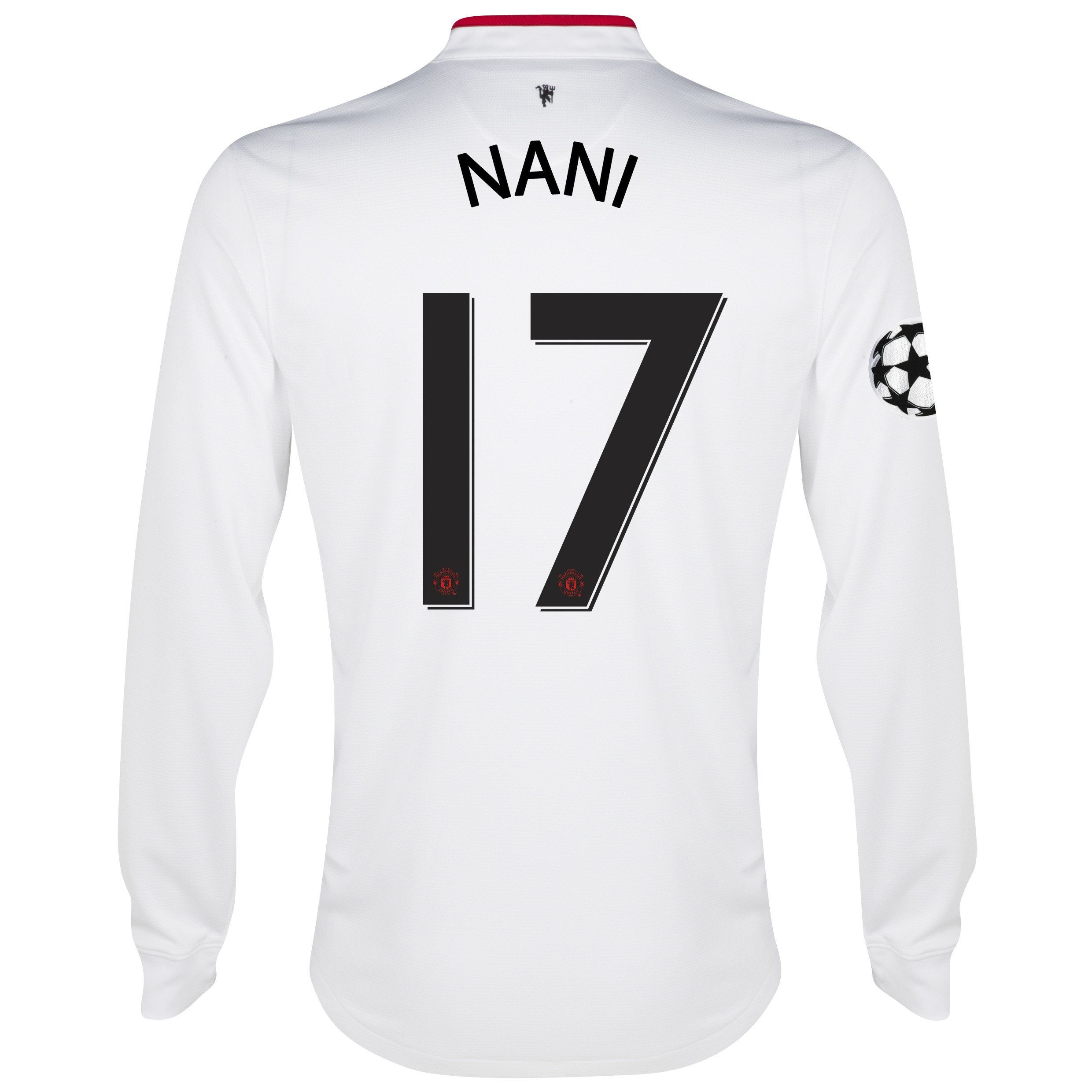 Manchester United UEFA Champions League Away Shirt 2012/13 - Long Sleeved - Youths with Nani 17 printing