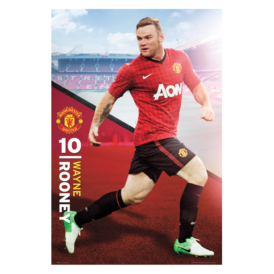 Manchester United 2012/13 Rooney Poster - 61 x 92cm
