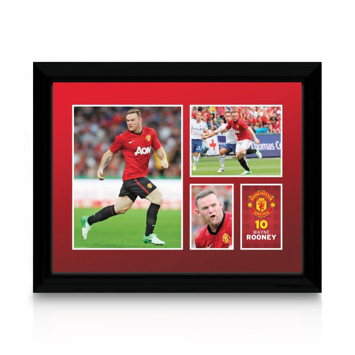 Manchester United 2012/13 Rooney Framed Print - 12 x 16 Inch