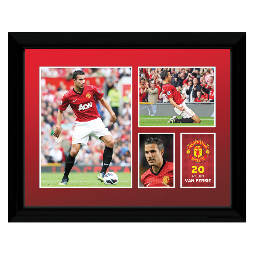 Manchester United 2012/13 Van Persie Framed Print - 12 x 16 Inch