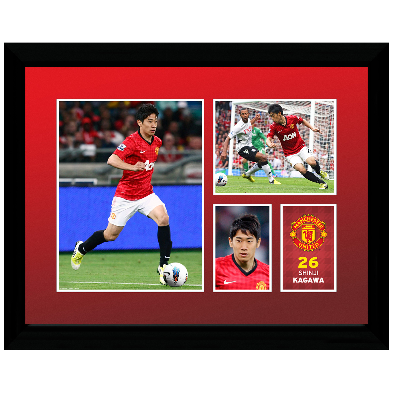 Manchester United 2012/13 Kagawa Framed Print - 12 x 16 Inch