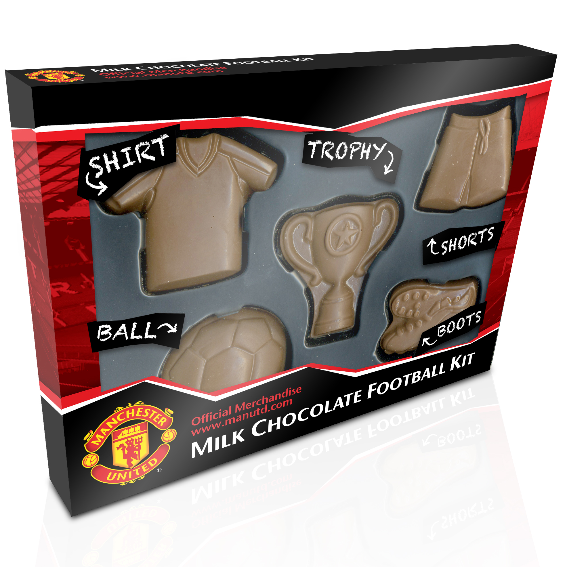 Manchester United Chocolate Football Kit Pieces