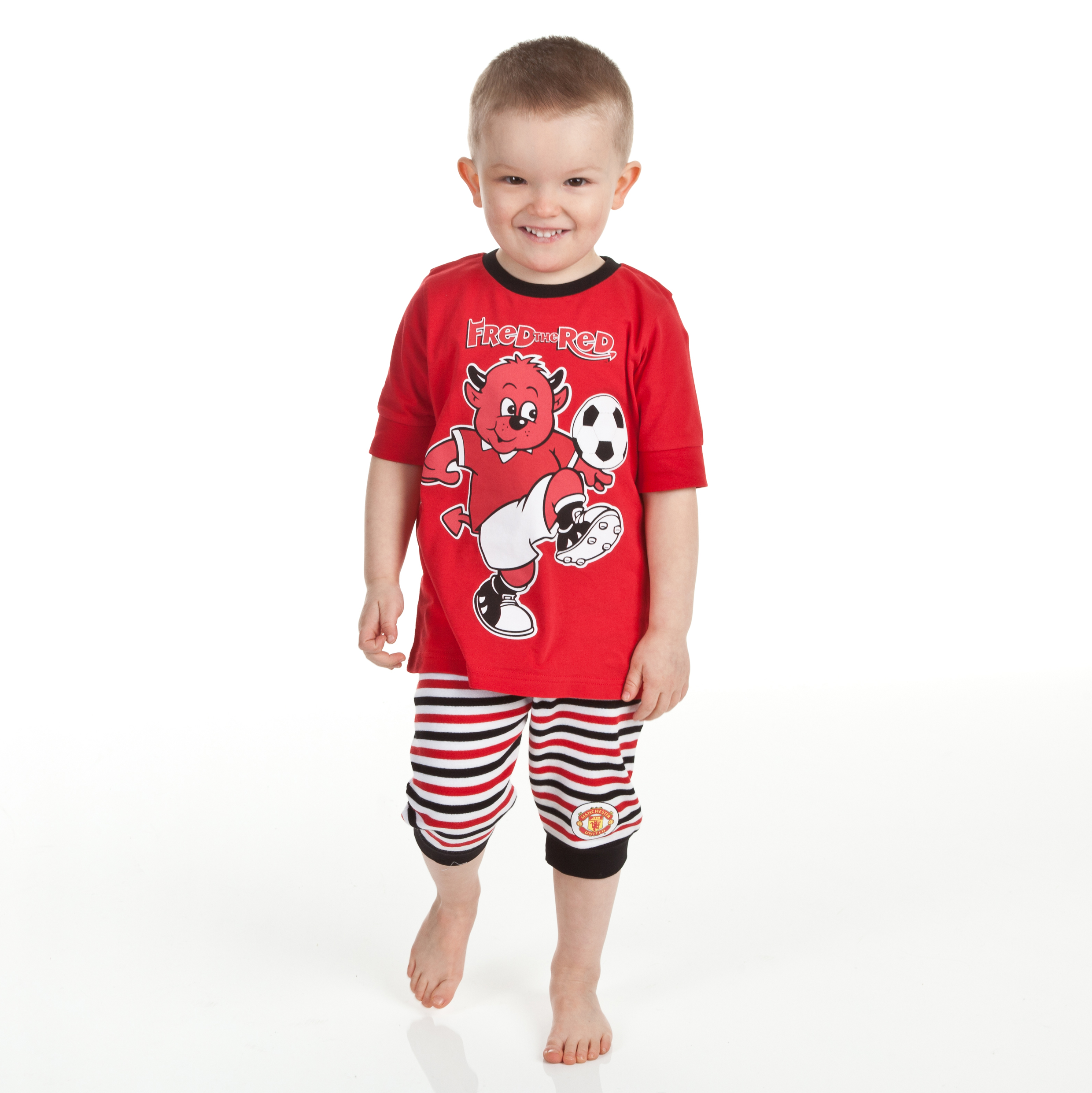 Manchester United Fred The Red Snuggle Fit Pyjamas - Red/Black - Infant Boys