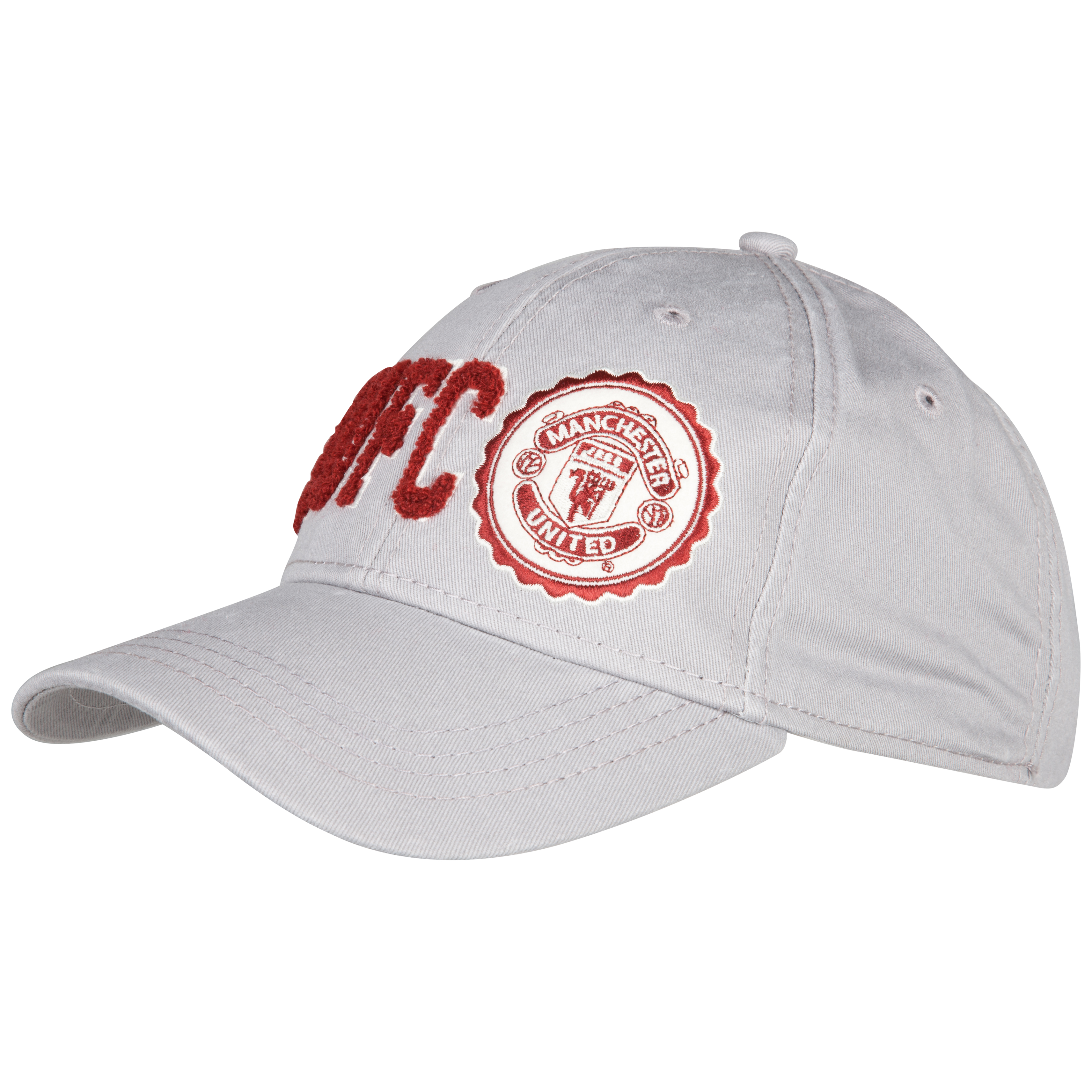 Manchester United Campus Baseball Cap -Grey - Mens