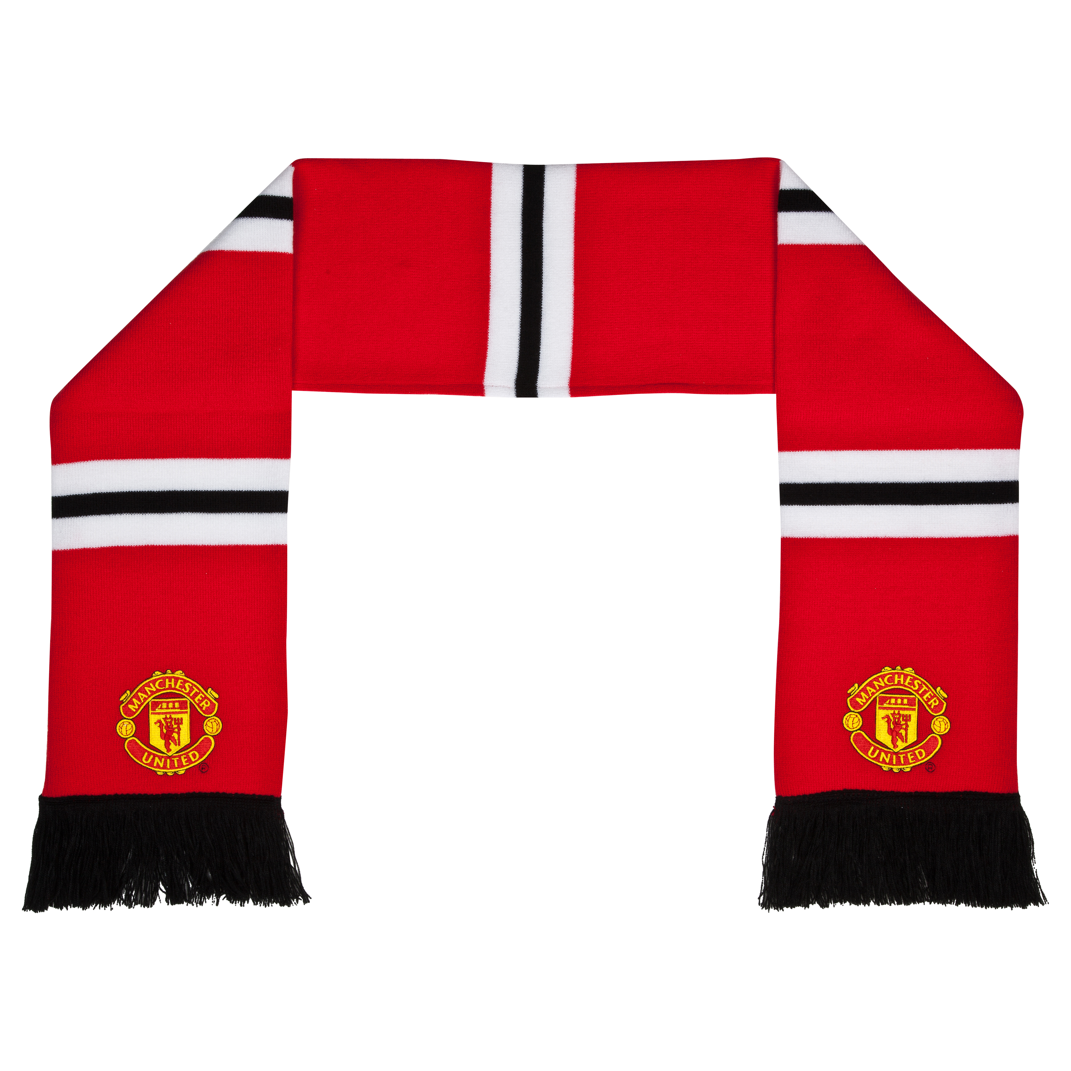 Manchester United Retro Bar Scarf - Red - Adult