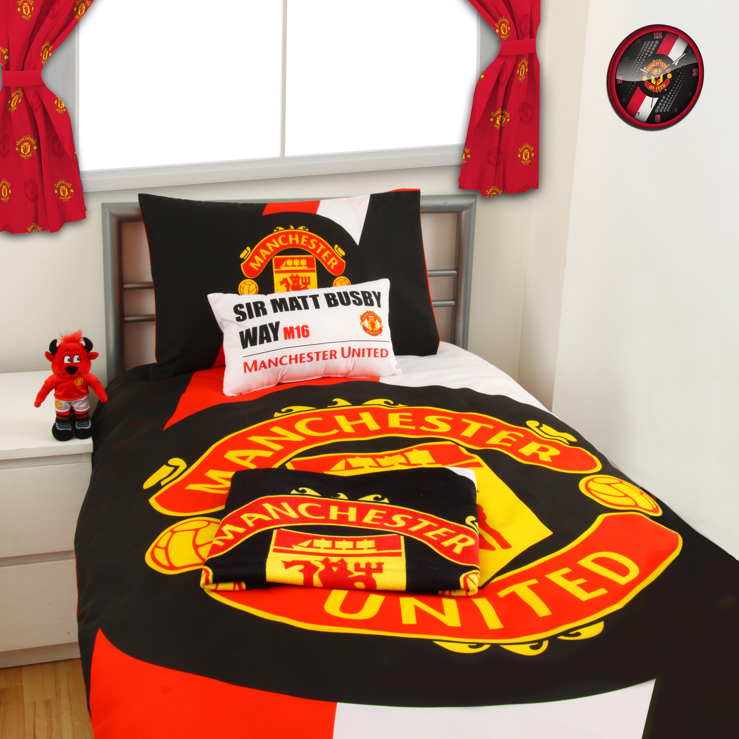 Manchester United Stripe Duvet Set - Single