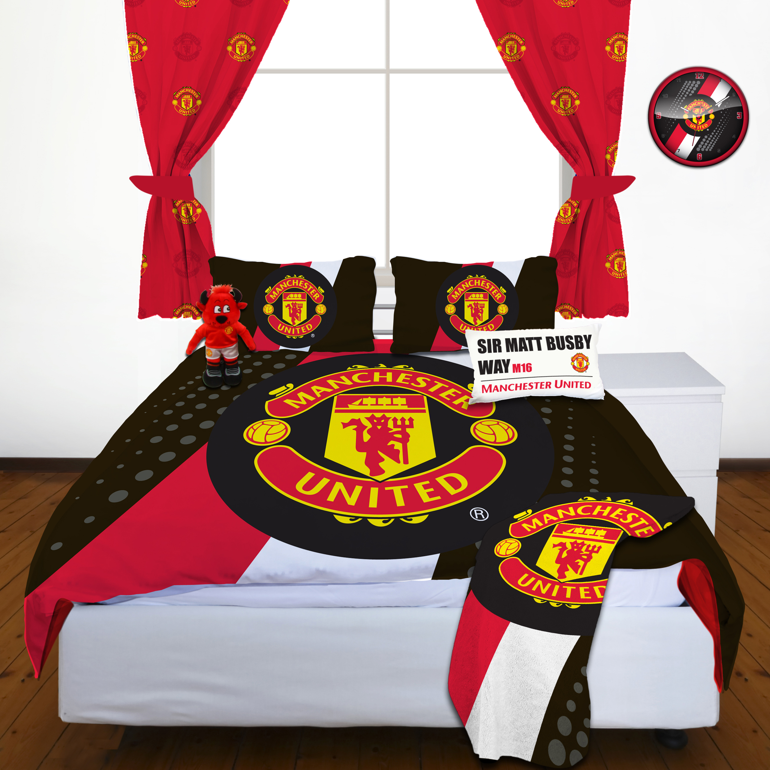 Manchester United Stripe Duvet Set - Double