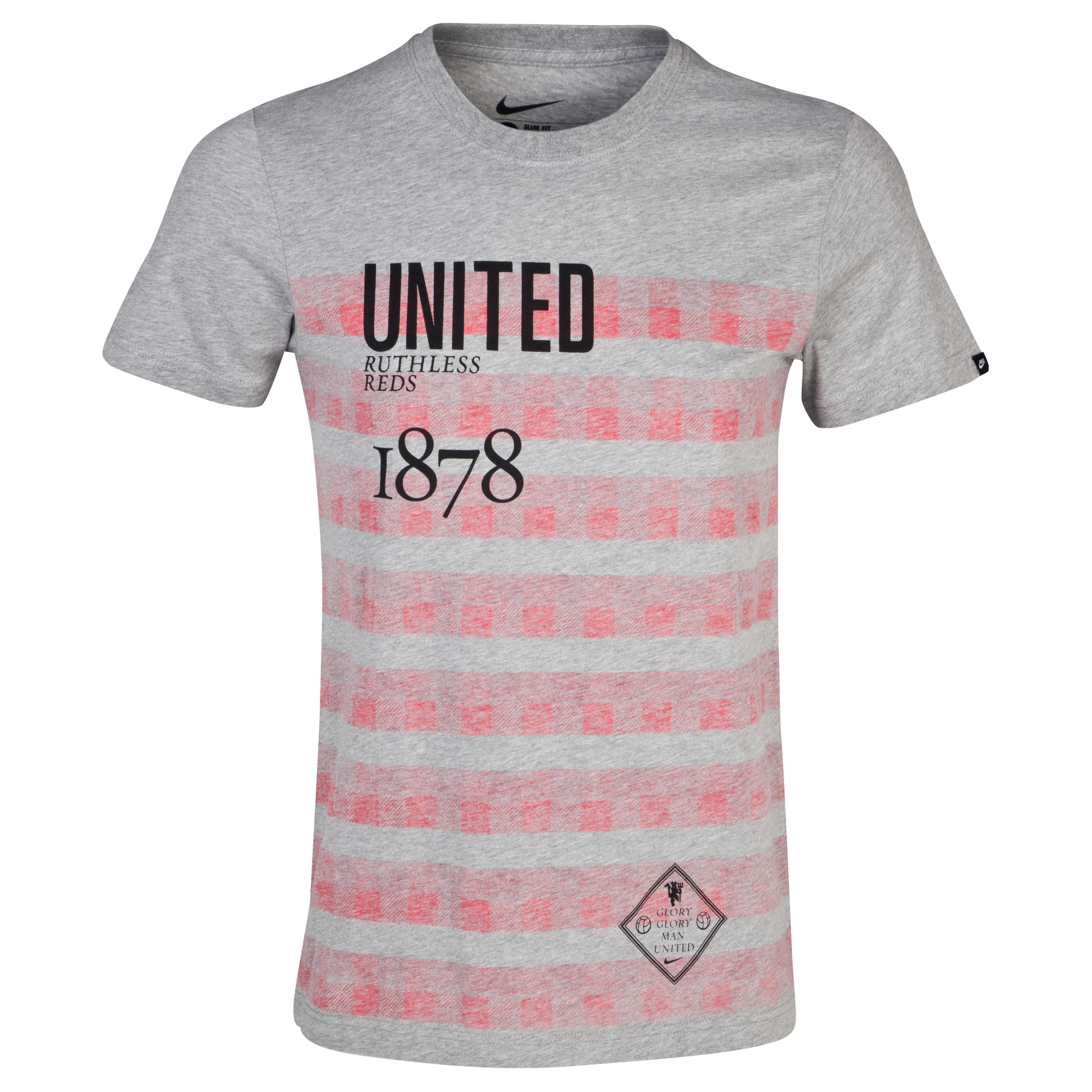 Manchester United Authentic T-Shirt - Dark Grey Heather