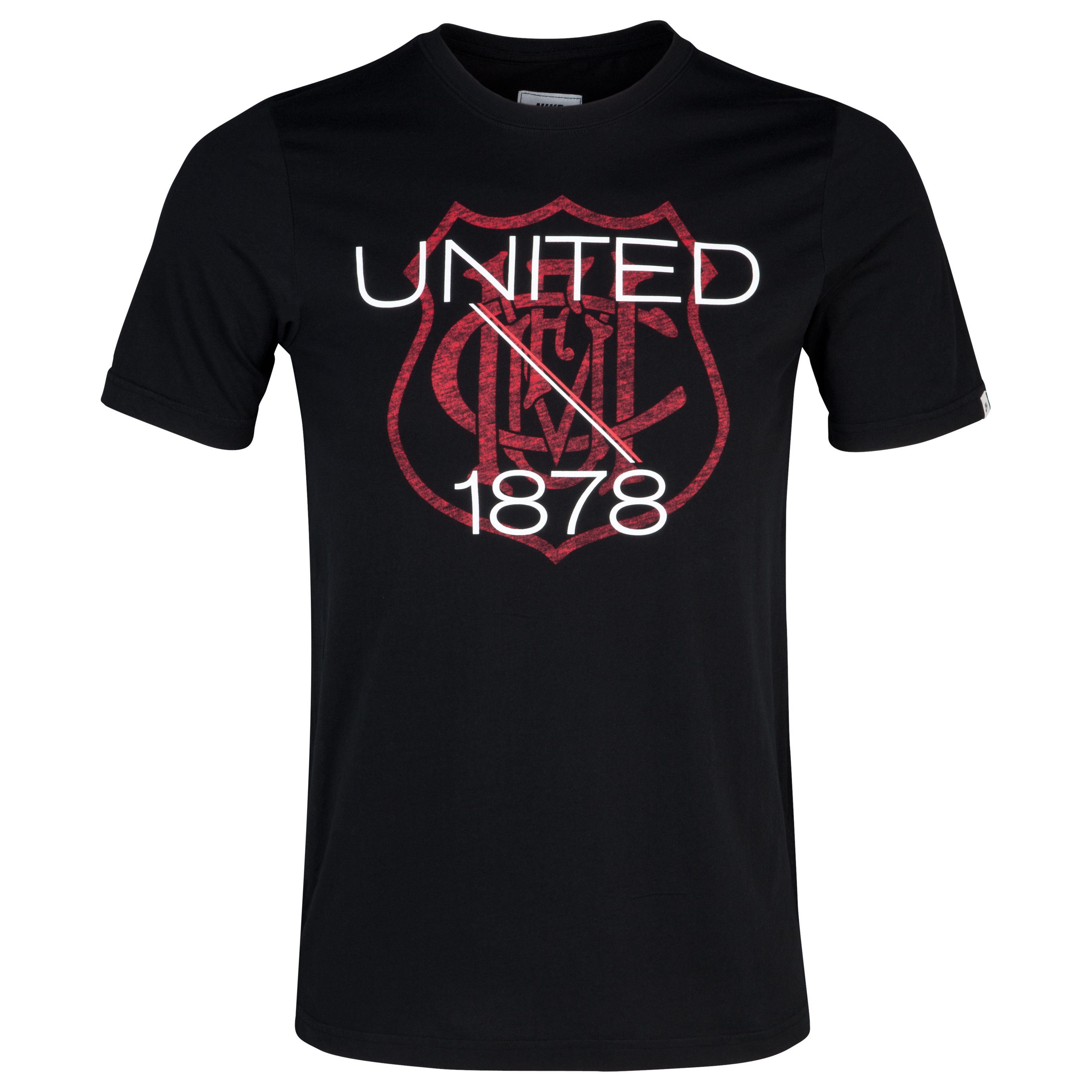 Manchester United Covert Vintage T-Shirt - Black