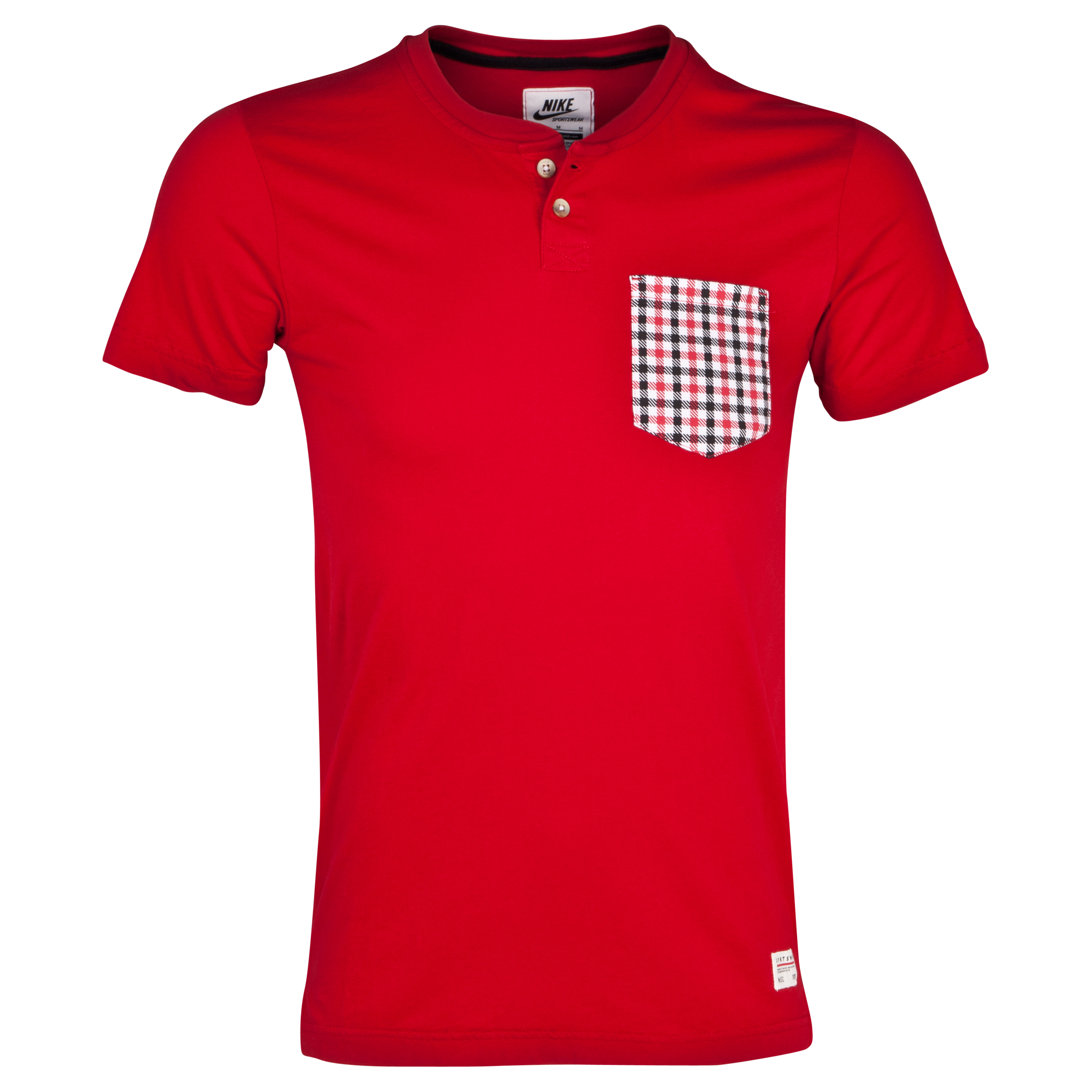 Manchester United Covert Pocket Henley T-Shirt - Gym Red