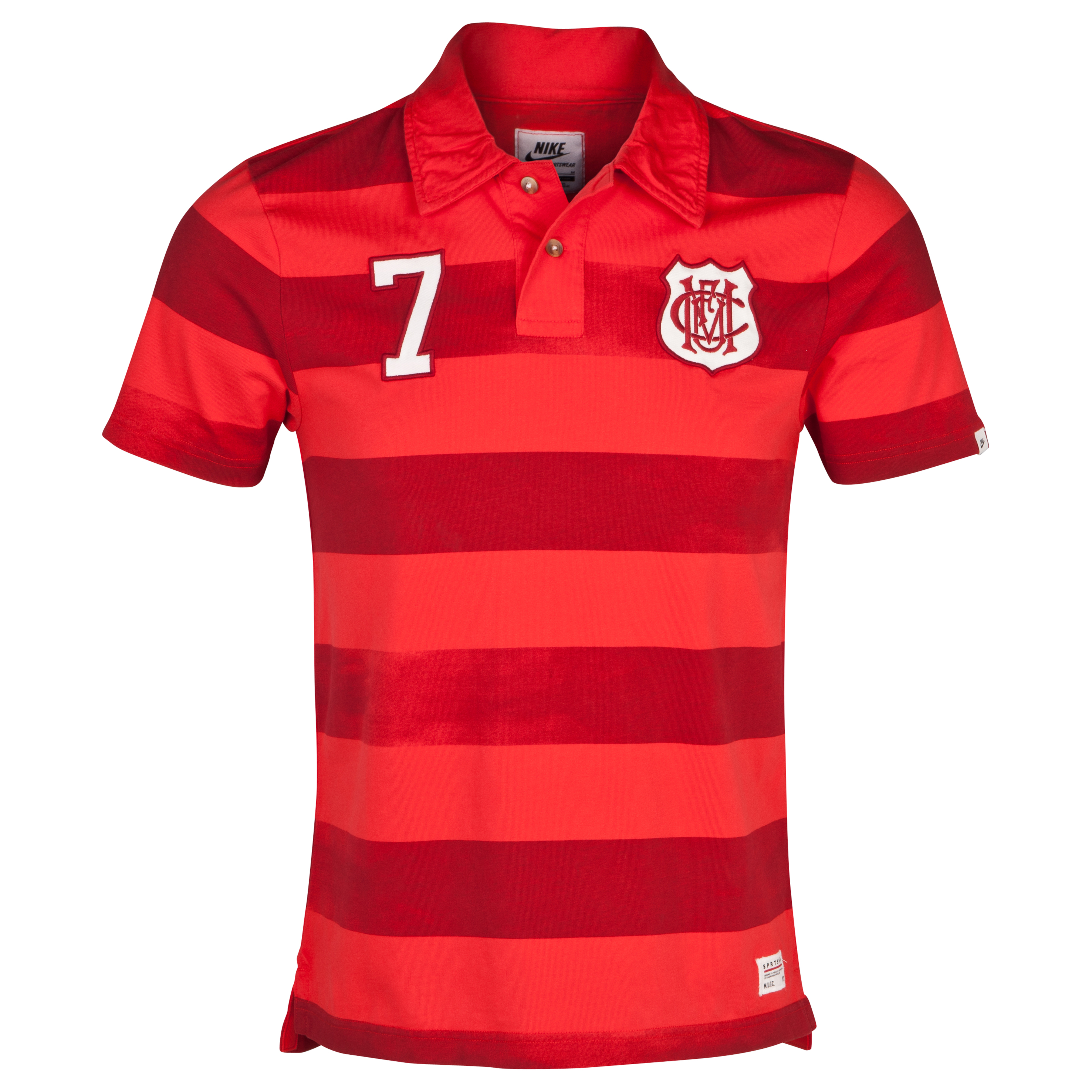 Manchester United Covert Vintage Polo - Pimento/Gym Red