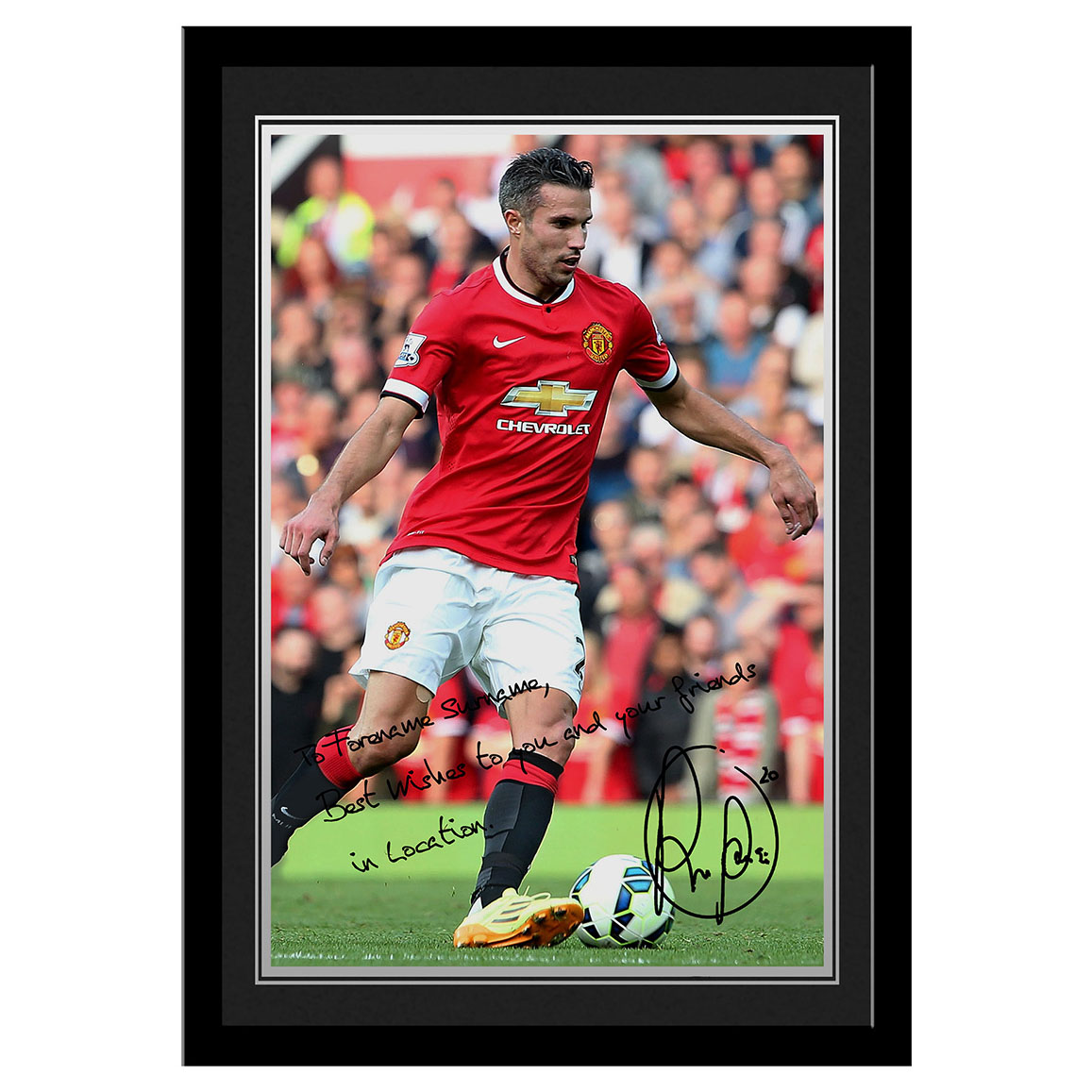 Manchester United Personalised Signature Photo Framed - Van Persie