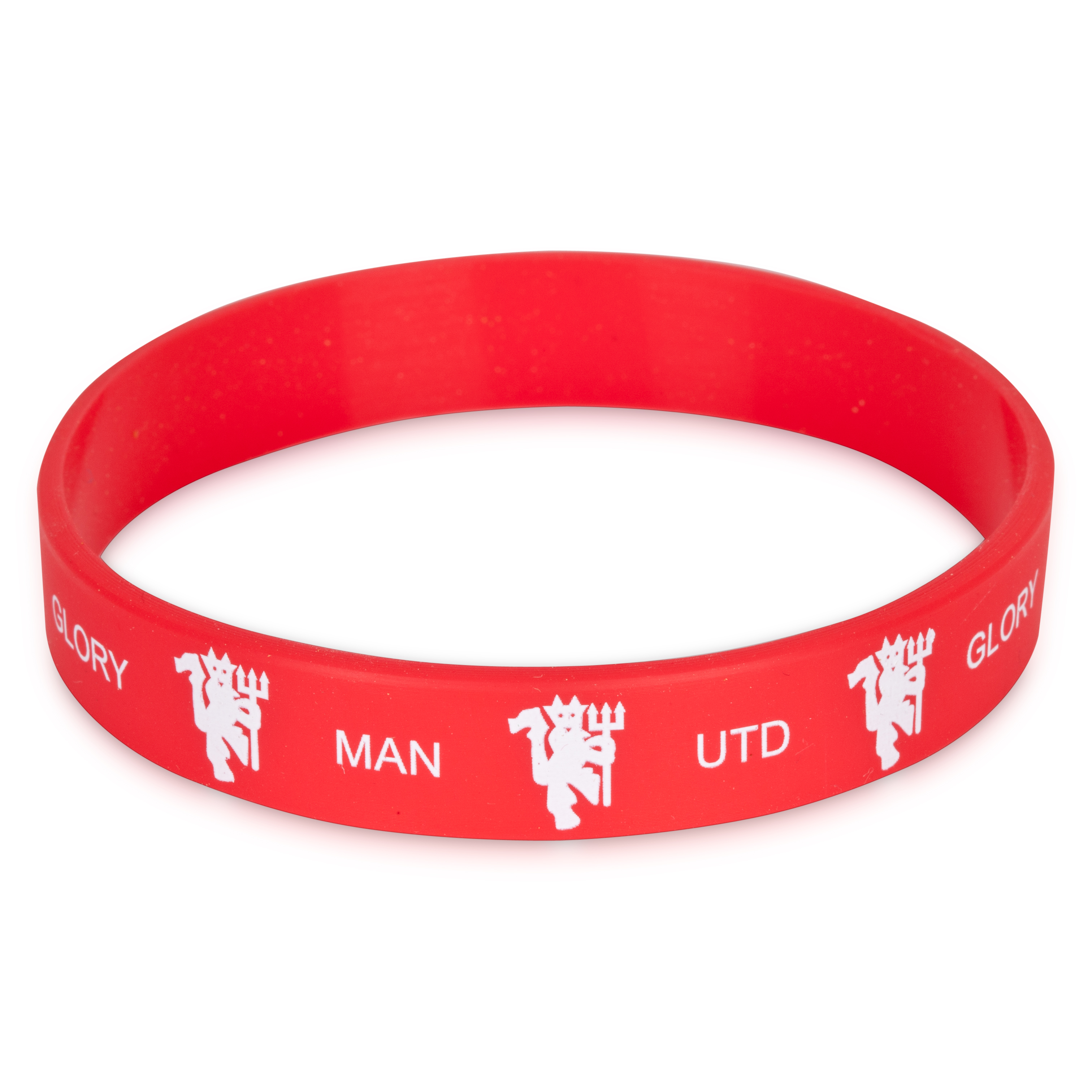 Manchester United Rubber Wristband - 12mm Width