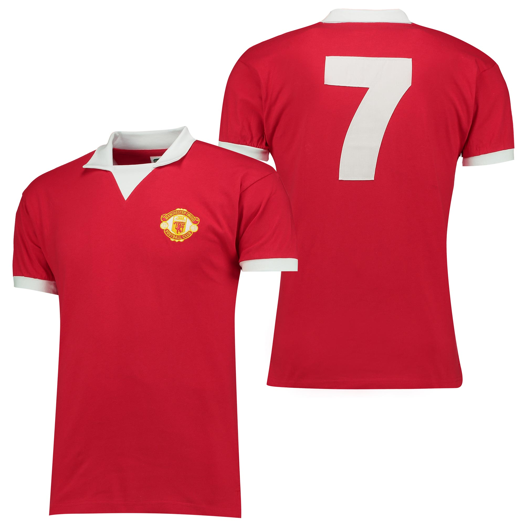 Manchester United 1973 Retro No 7 Home Shirt - Short Sleeved