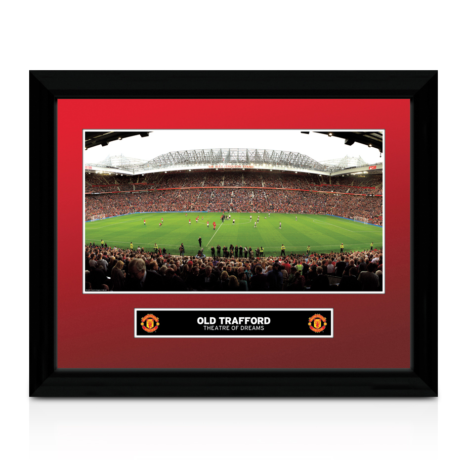 Manchester United Old Trafford Framed Print - 16 x 12 Inches