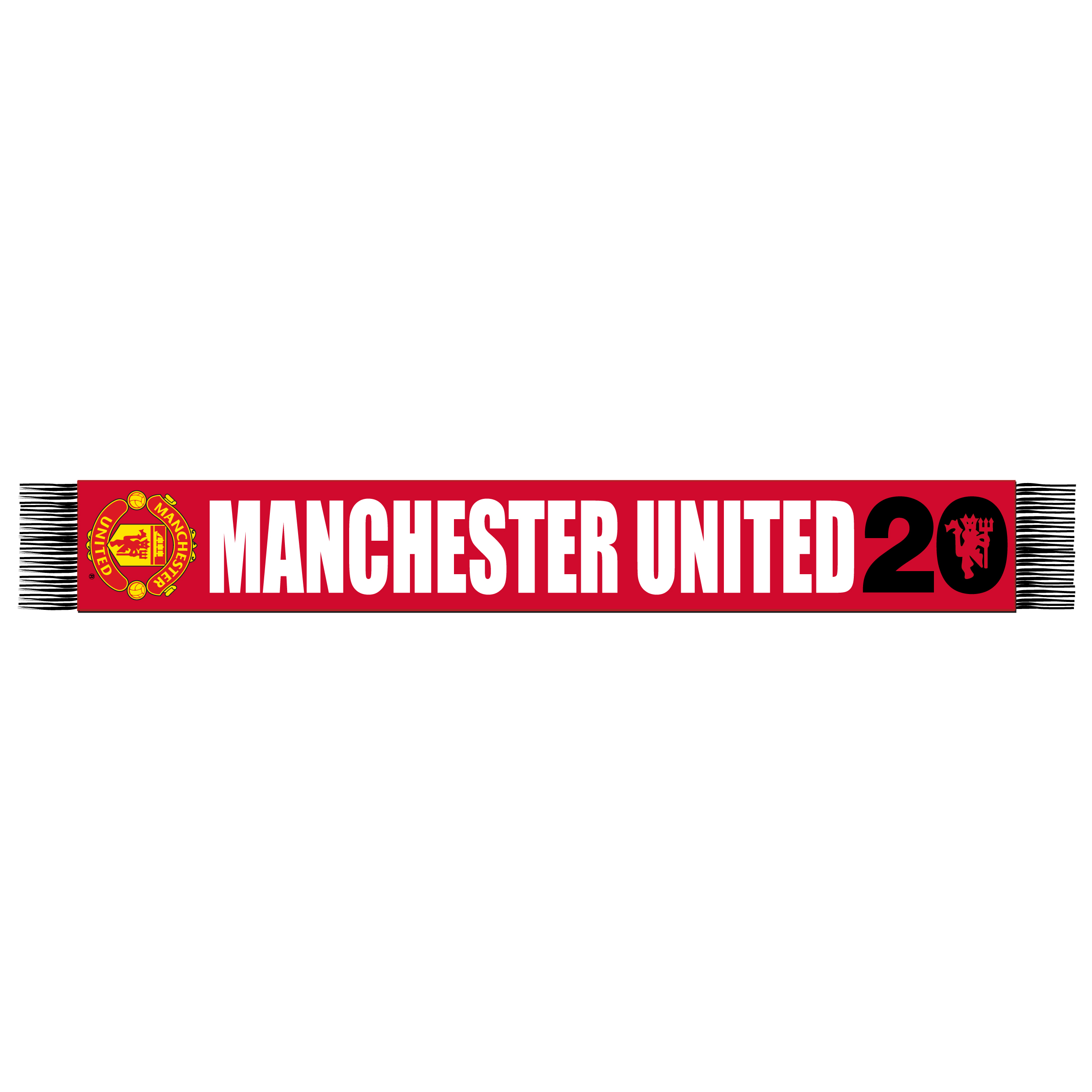 Manchester United 20 League Titles Scarf - Red/Black - Adult