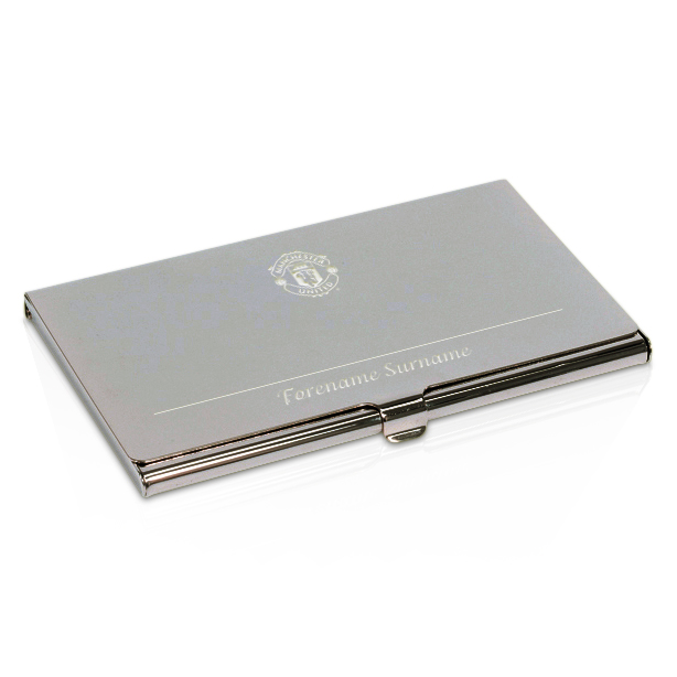 Manchester United Personalised Business Card Holder