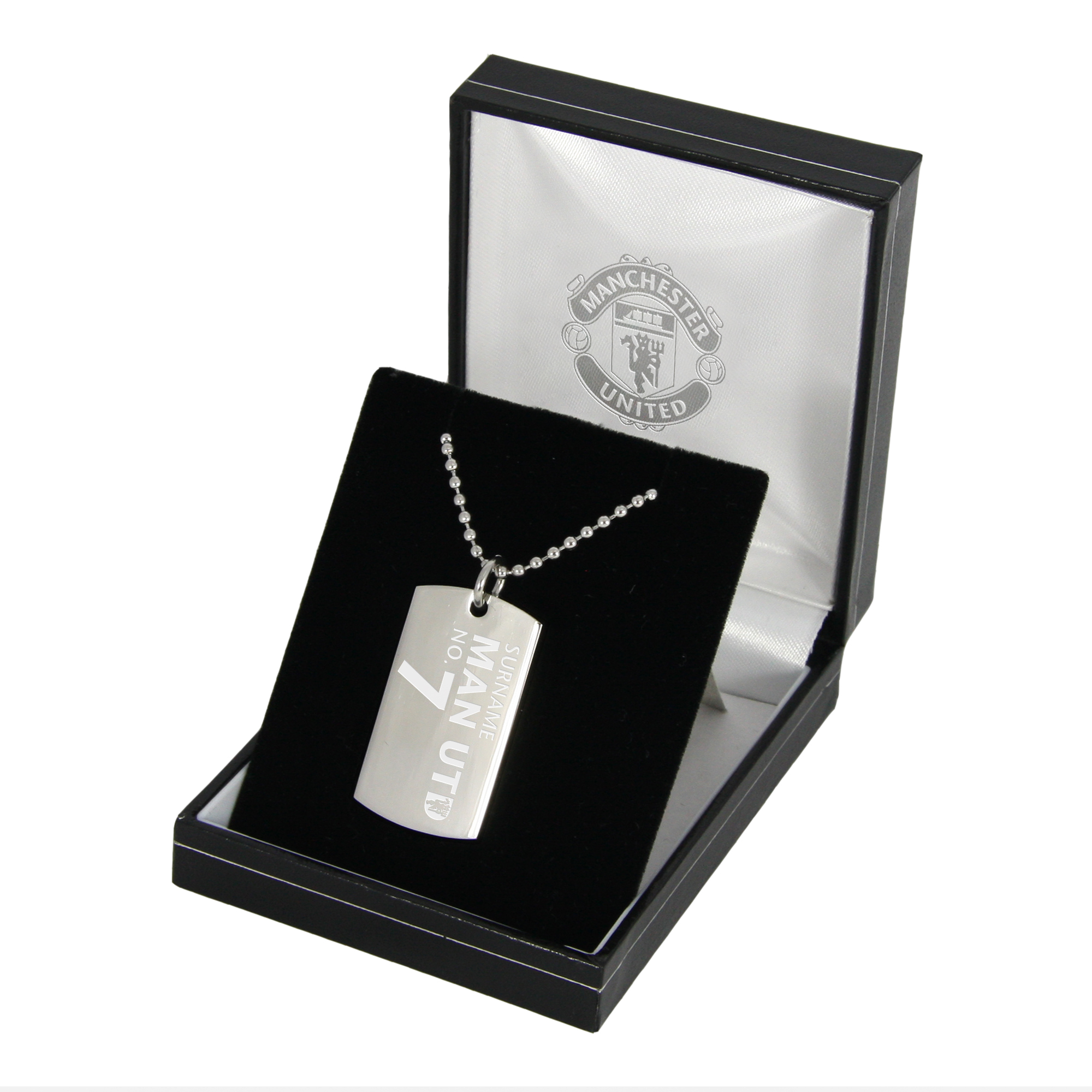 Manchester United Personalised Shirt Number Dog Tag Pendant