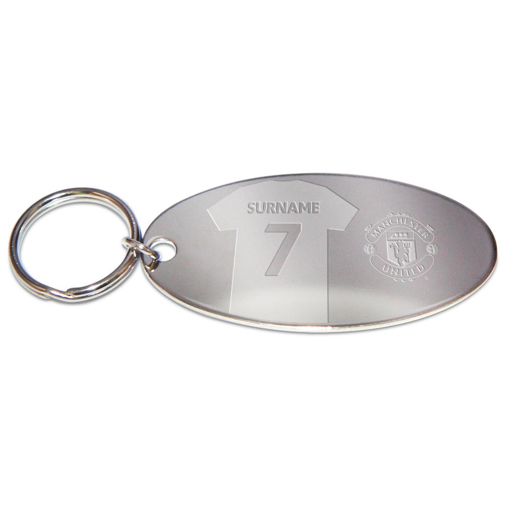 Manchester United Personalised Shirt Oval Keyring