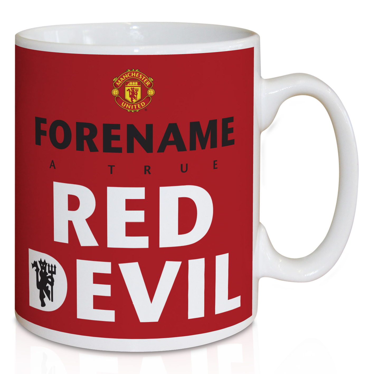 Manchester United Personalised Red Devil Mug