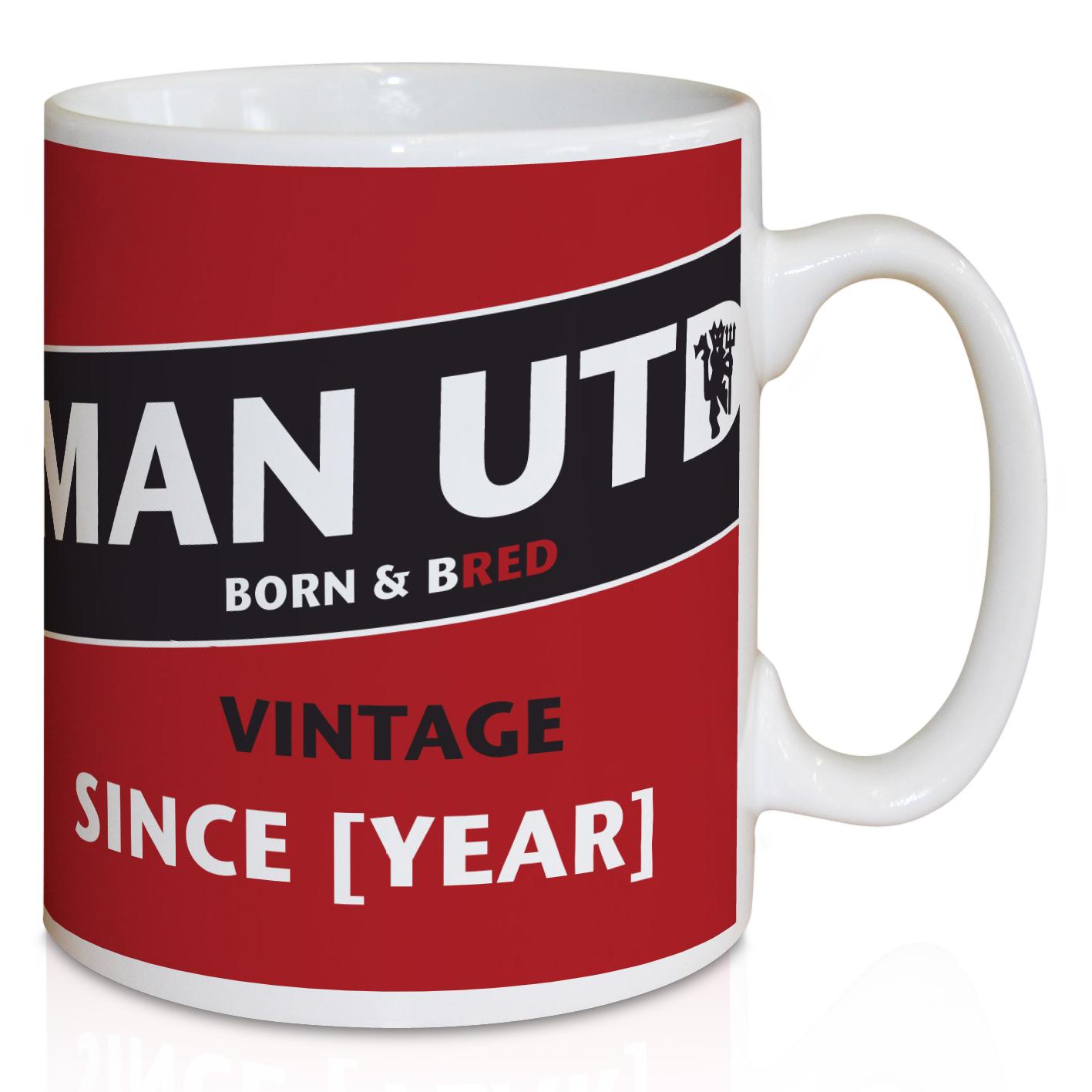 Manchester United Personalised Vintage Mug