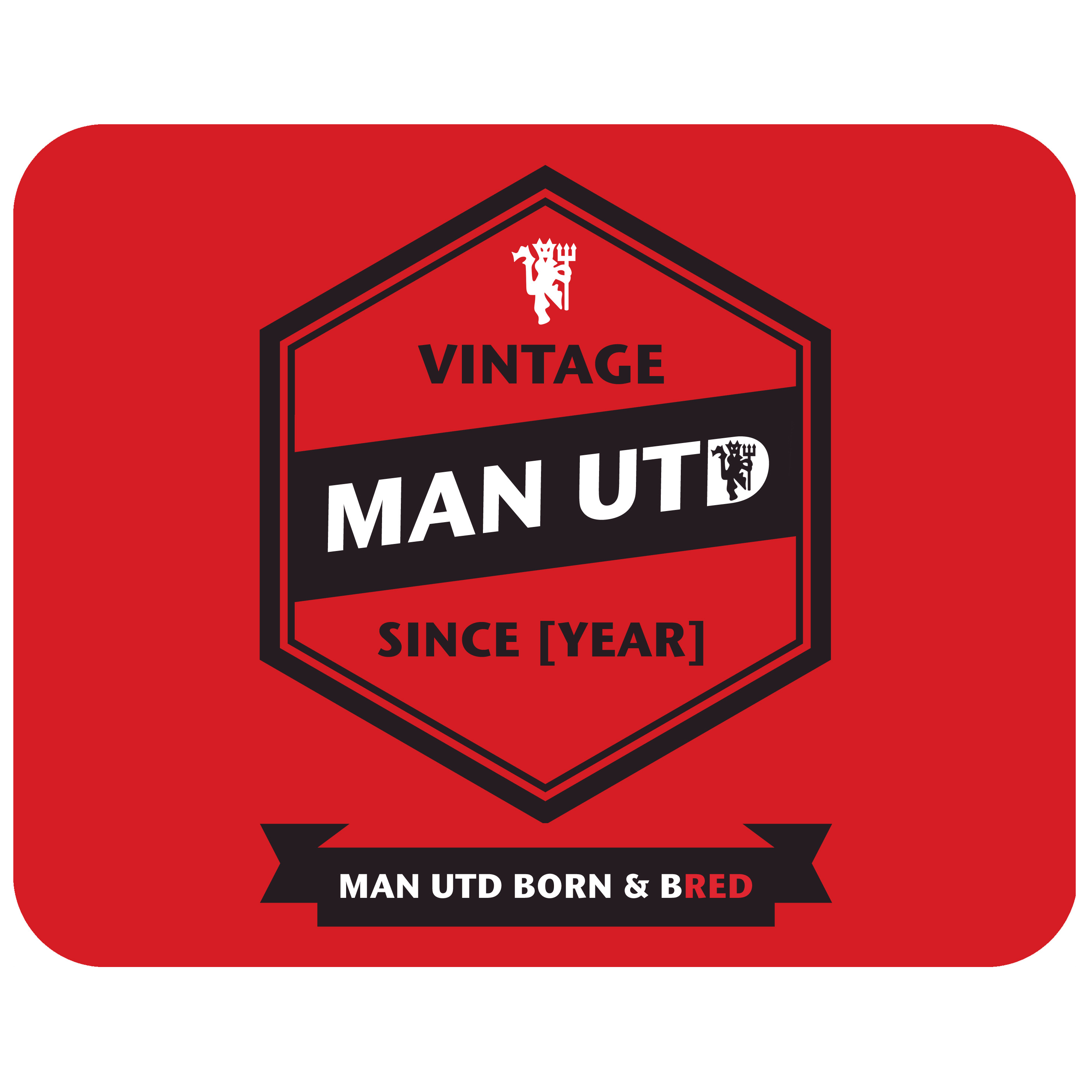 Manchester United Personalised Vintage Mouse Mat