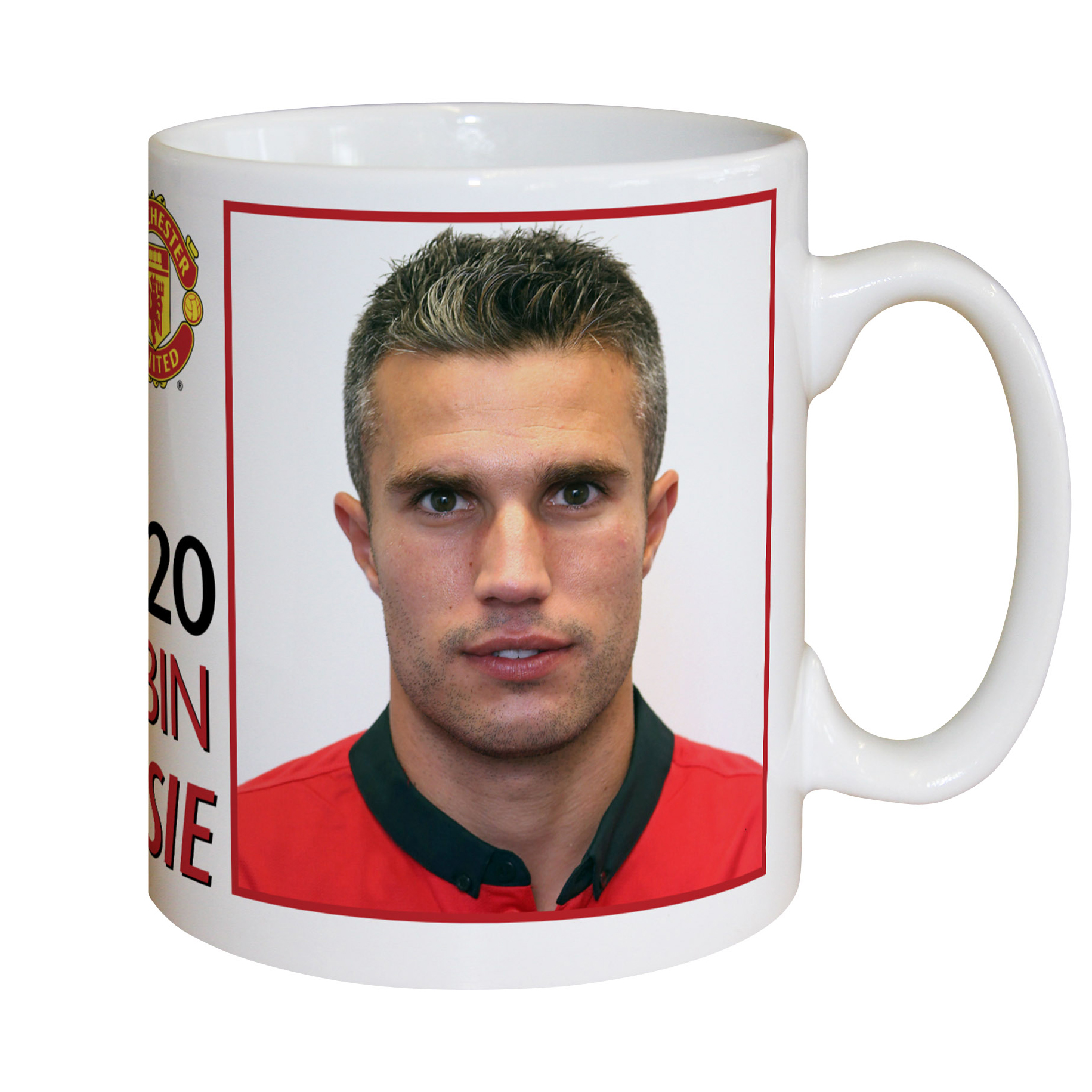 Manchester United Personalised Player Signature Mug -Van Persie
