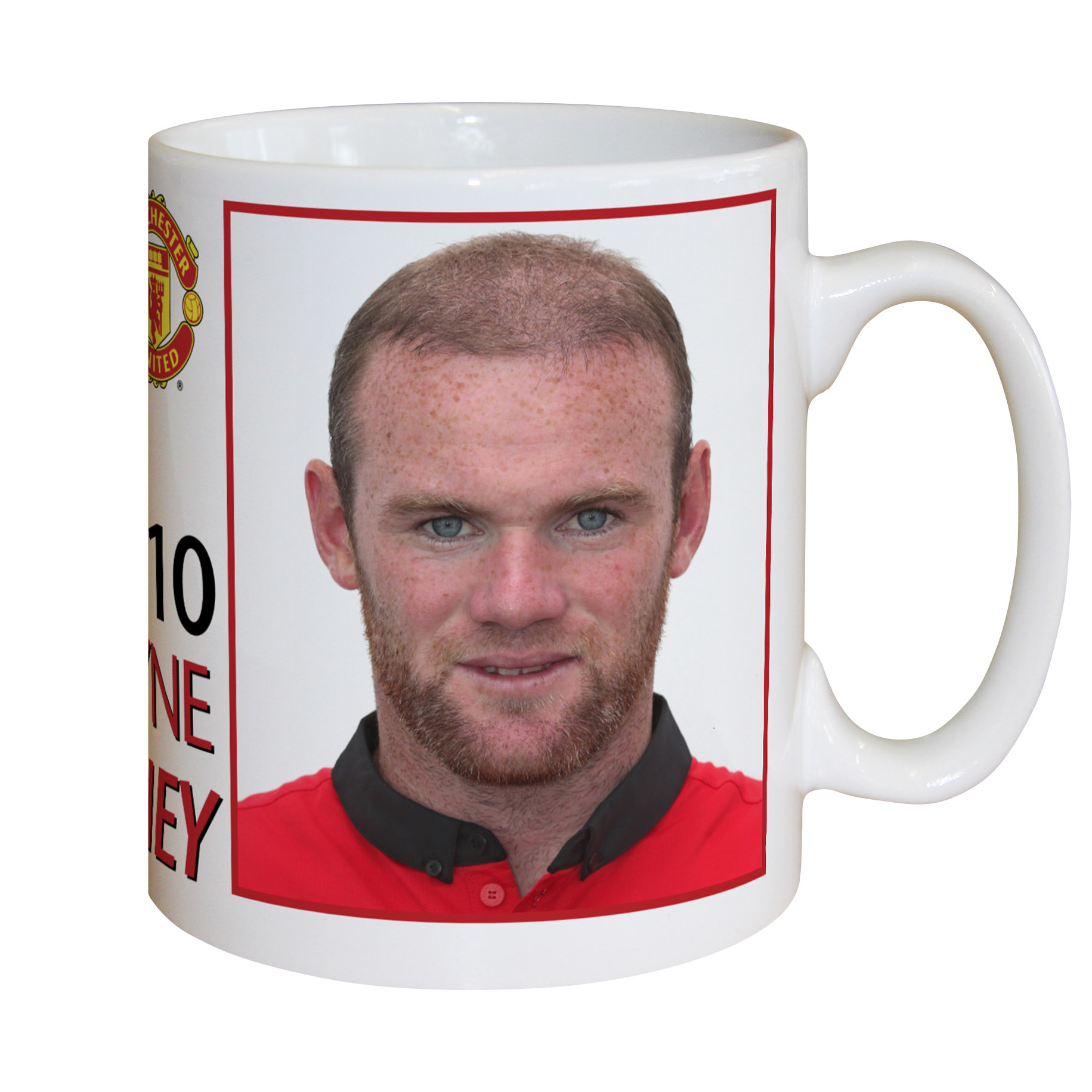 Manchester United Personalised Player Signature Mug - Rooney