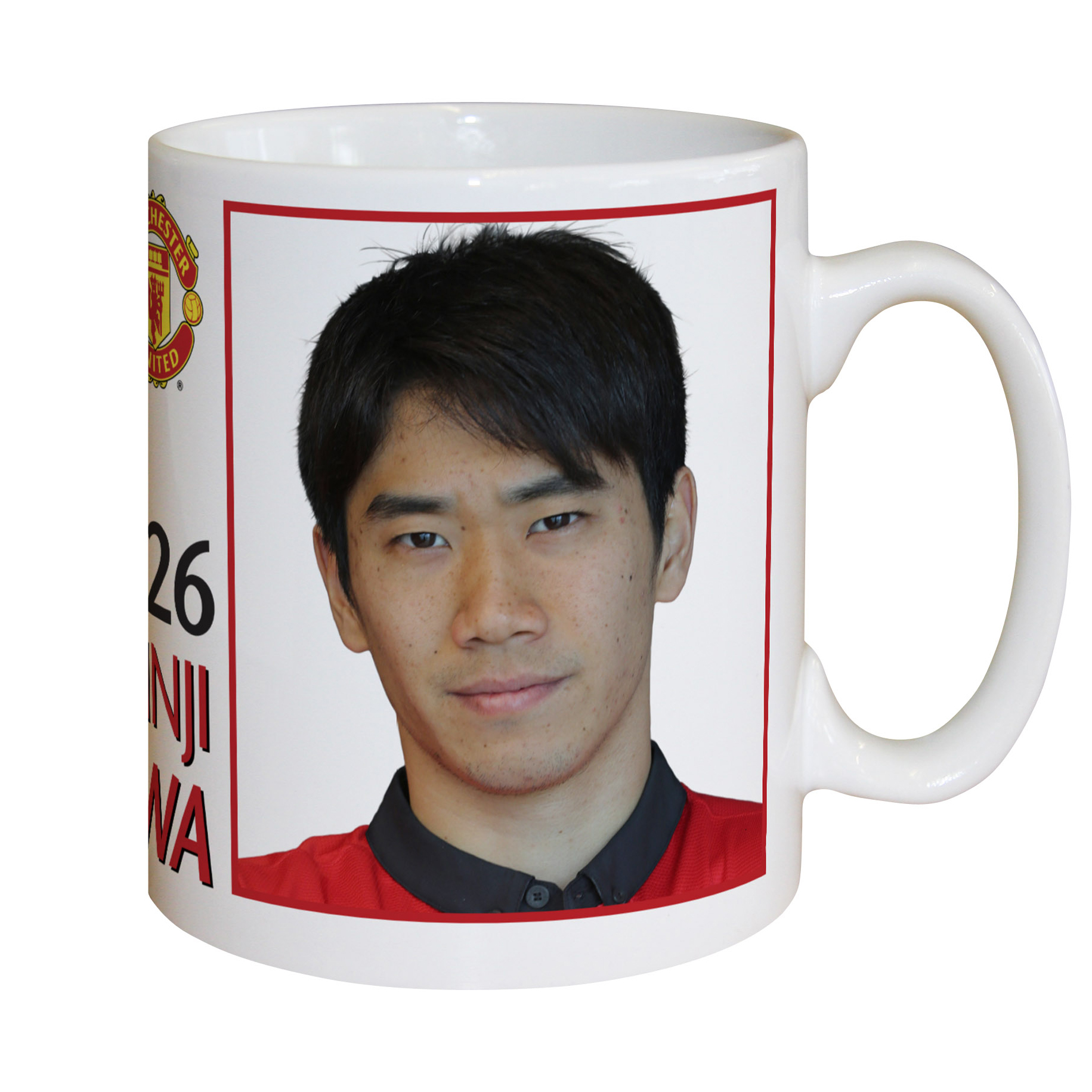 Manchester United Personalised Player Signature Mug - Kagawa